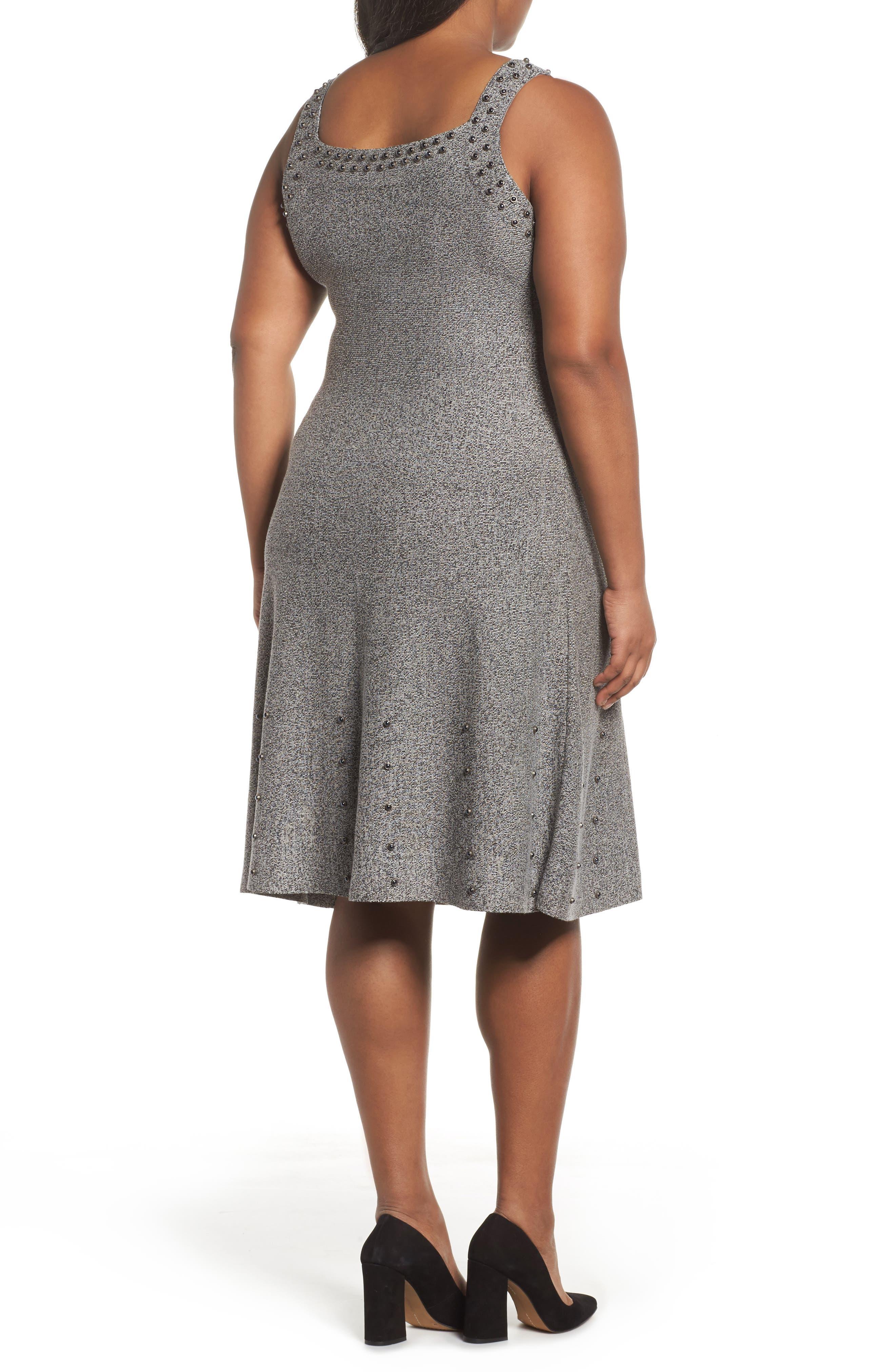 Alternate Image 2  - NIC+ZOE Modern Stud A-Line Dress (Plus Size)