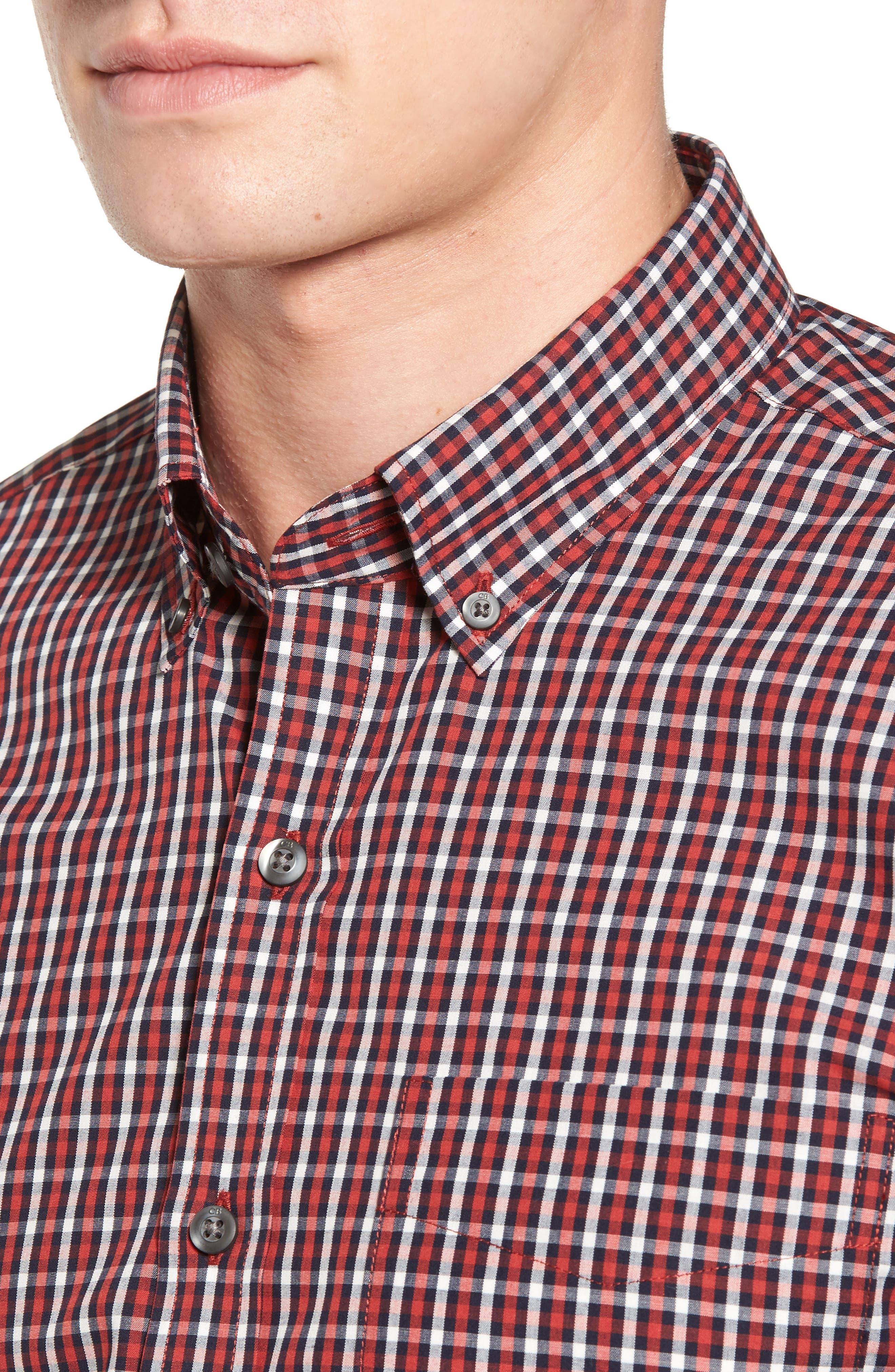 Alternate Image 4  - Cutter & Buck Barrett Check Easy Care Sport Shirt