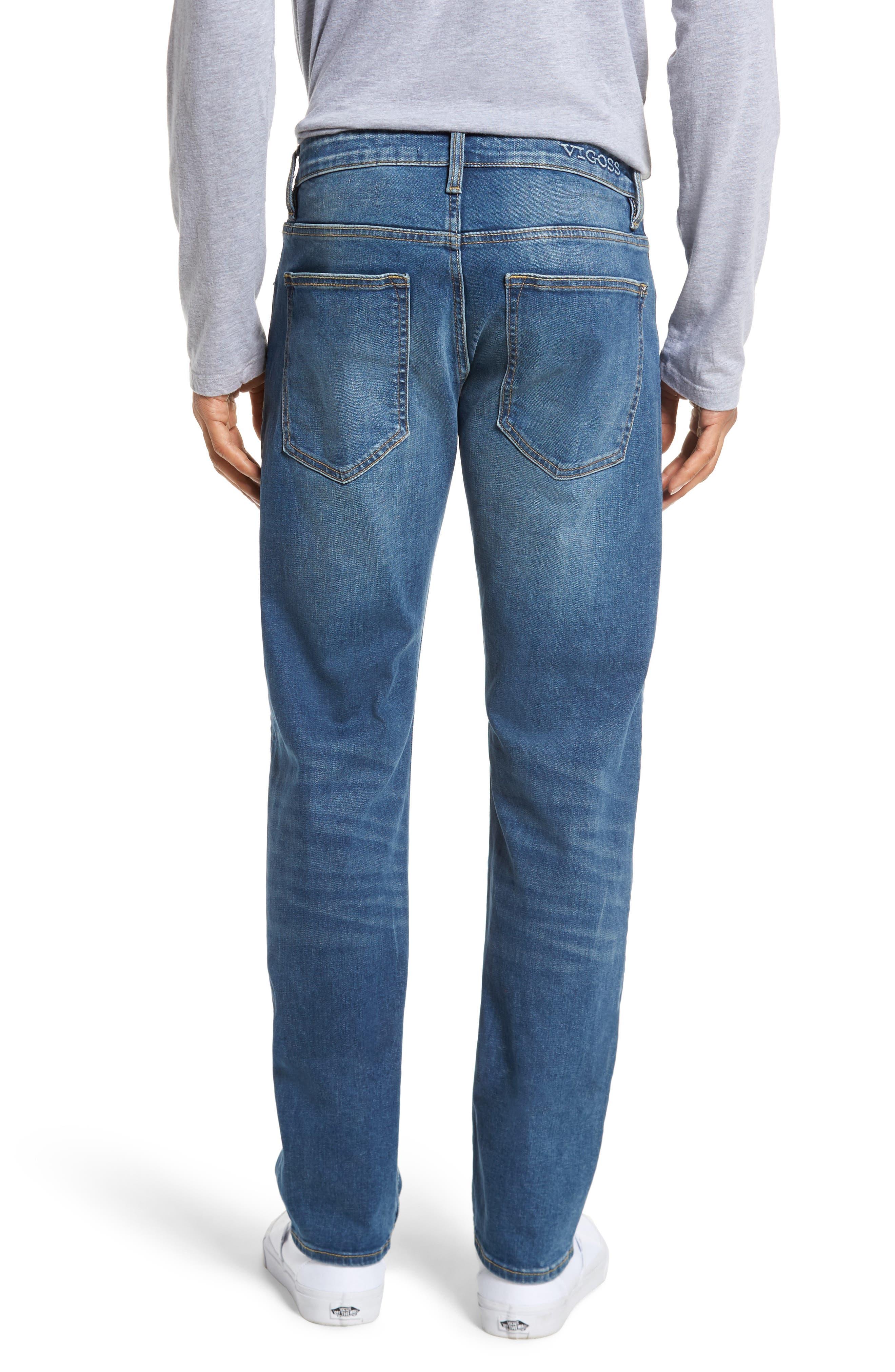 Slim Straight Leg Jeans,                             Alternate thumbnail 2, color,                             Light Wash