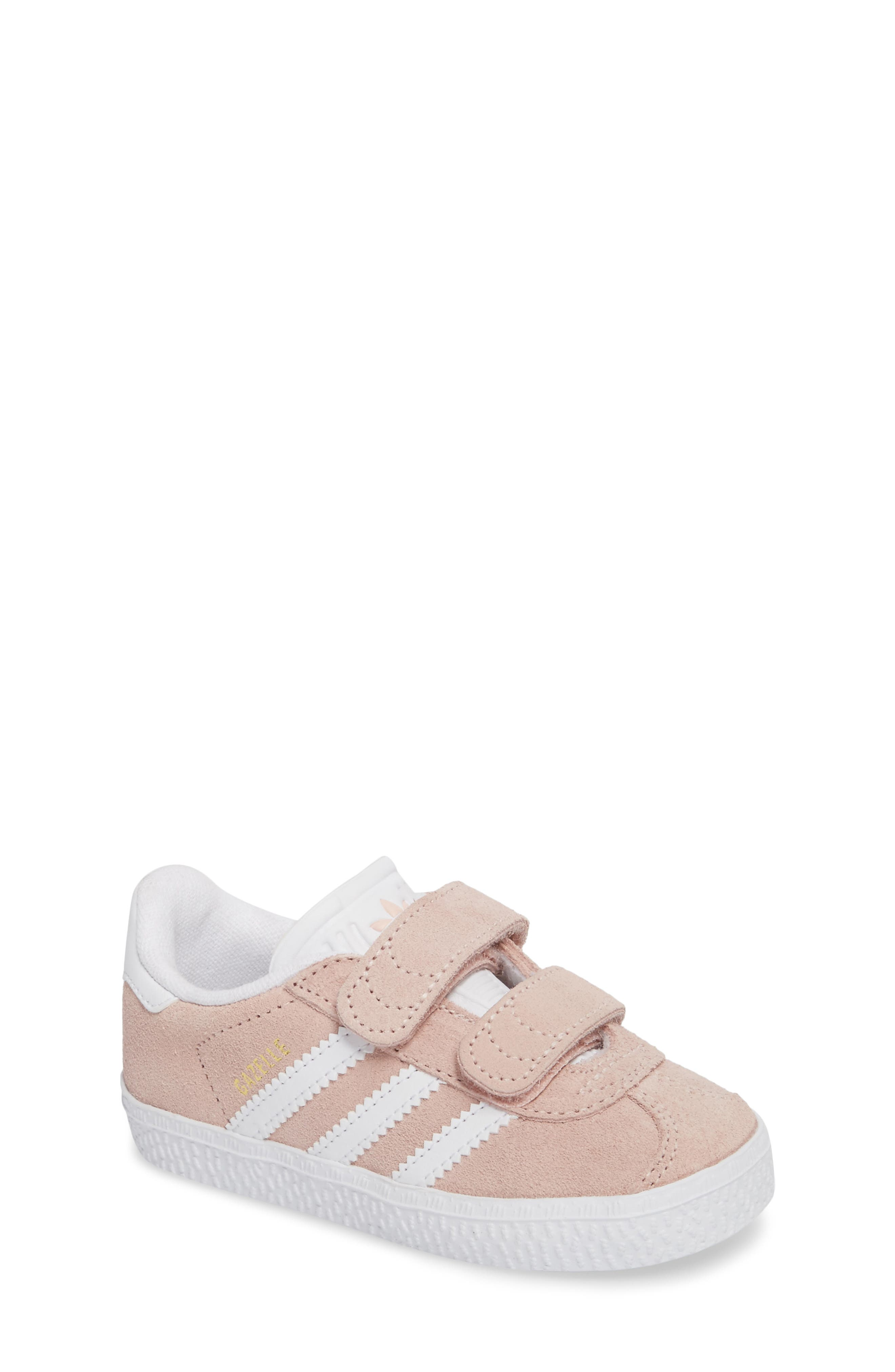 Gazelle Sneaker,                         Main,                         color, Icey Pink / White / White