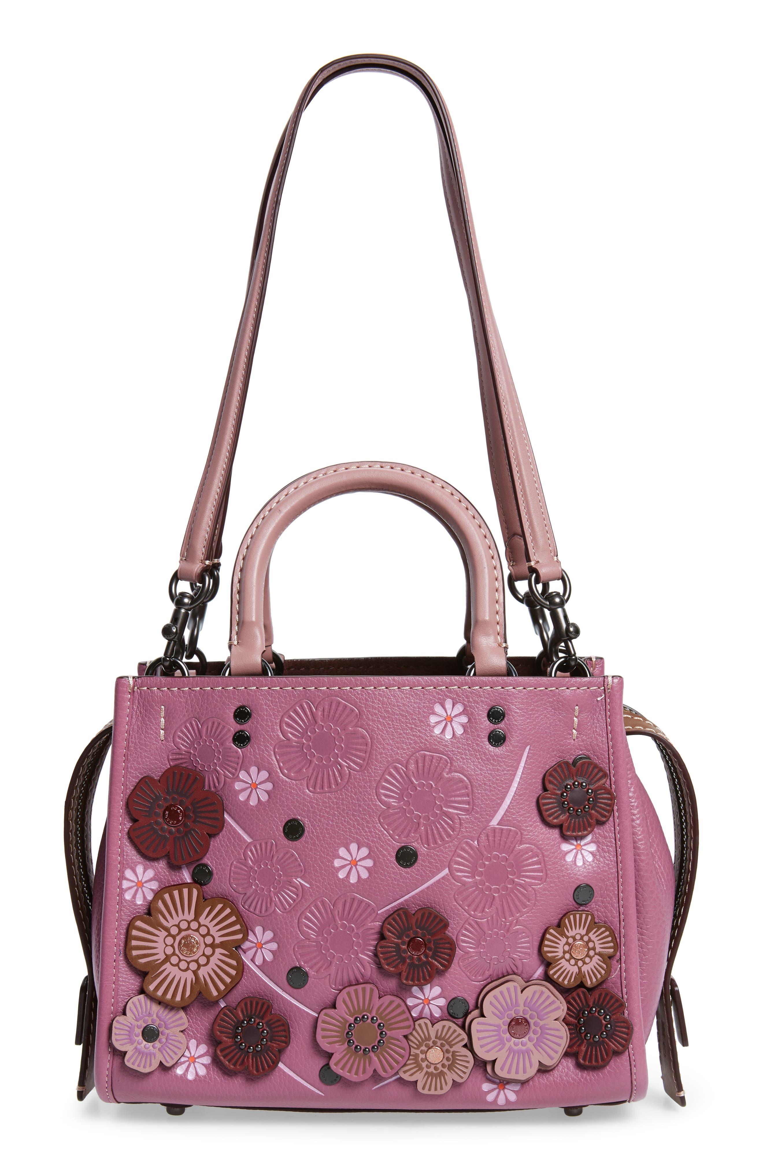Alternate Image 3  - COACH 1941 Rogue 25 Tea Rose Appliqué Leather Crossbody Bag