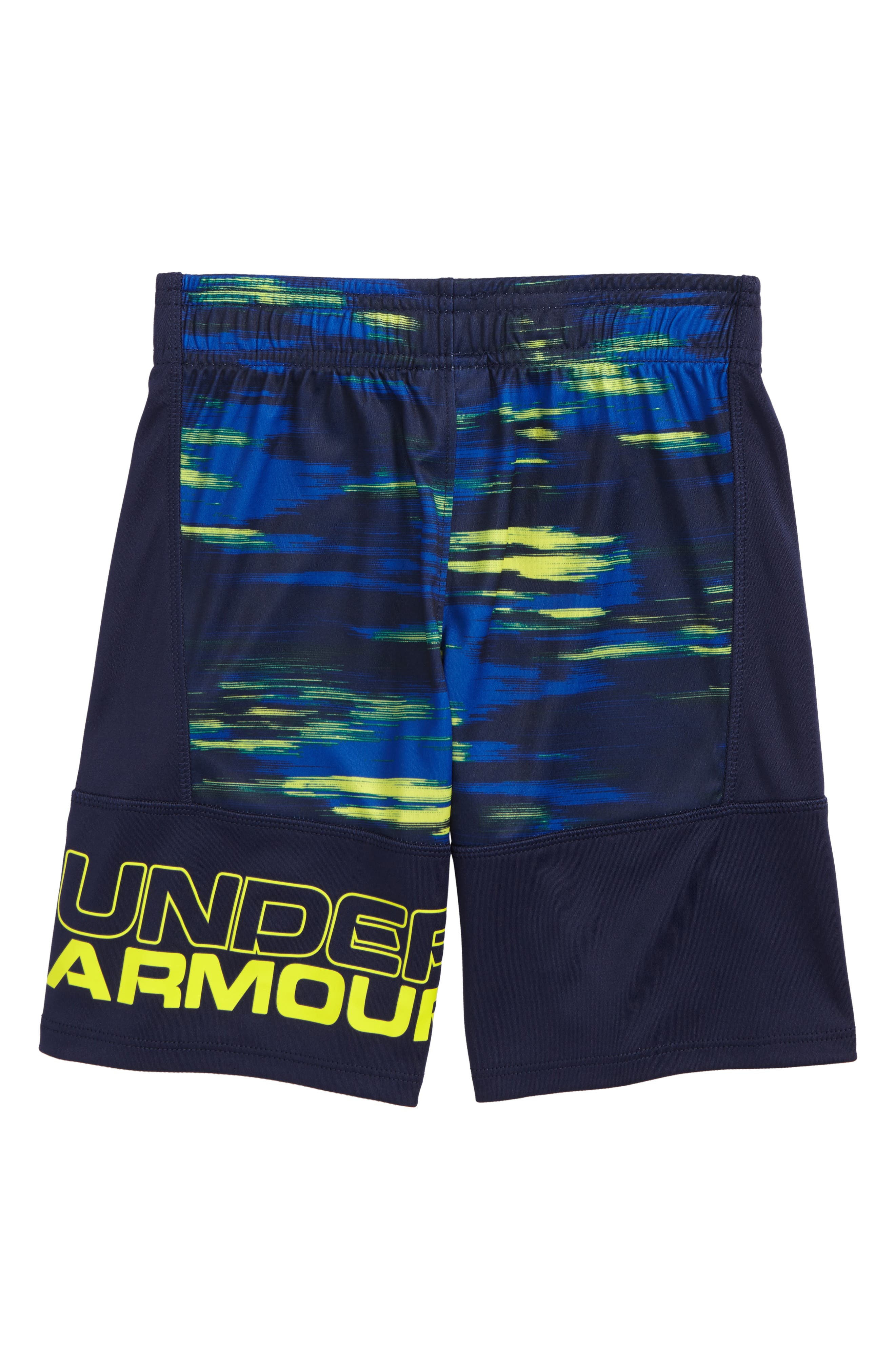 Alternate Image 2  - Under Armour Accelerate Stunt HeatGear® Shorts (Toddler Boys & Little Boys)