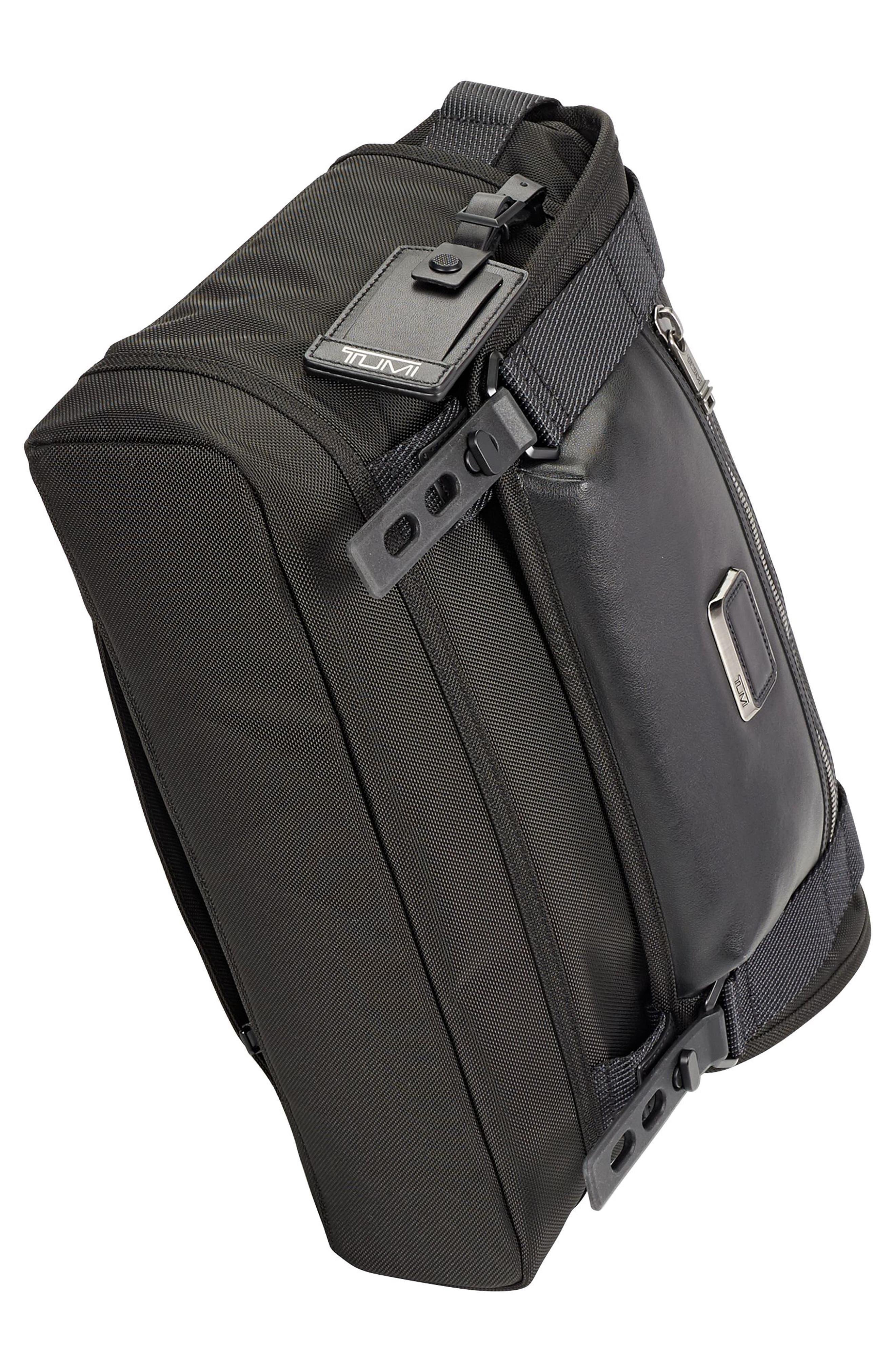 Alpha Bravo - Fallon Messenger Bag,                             Alternate thumbnail 5, color,                             Black