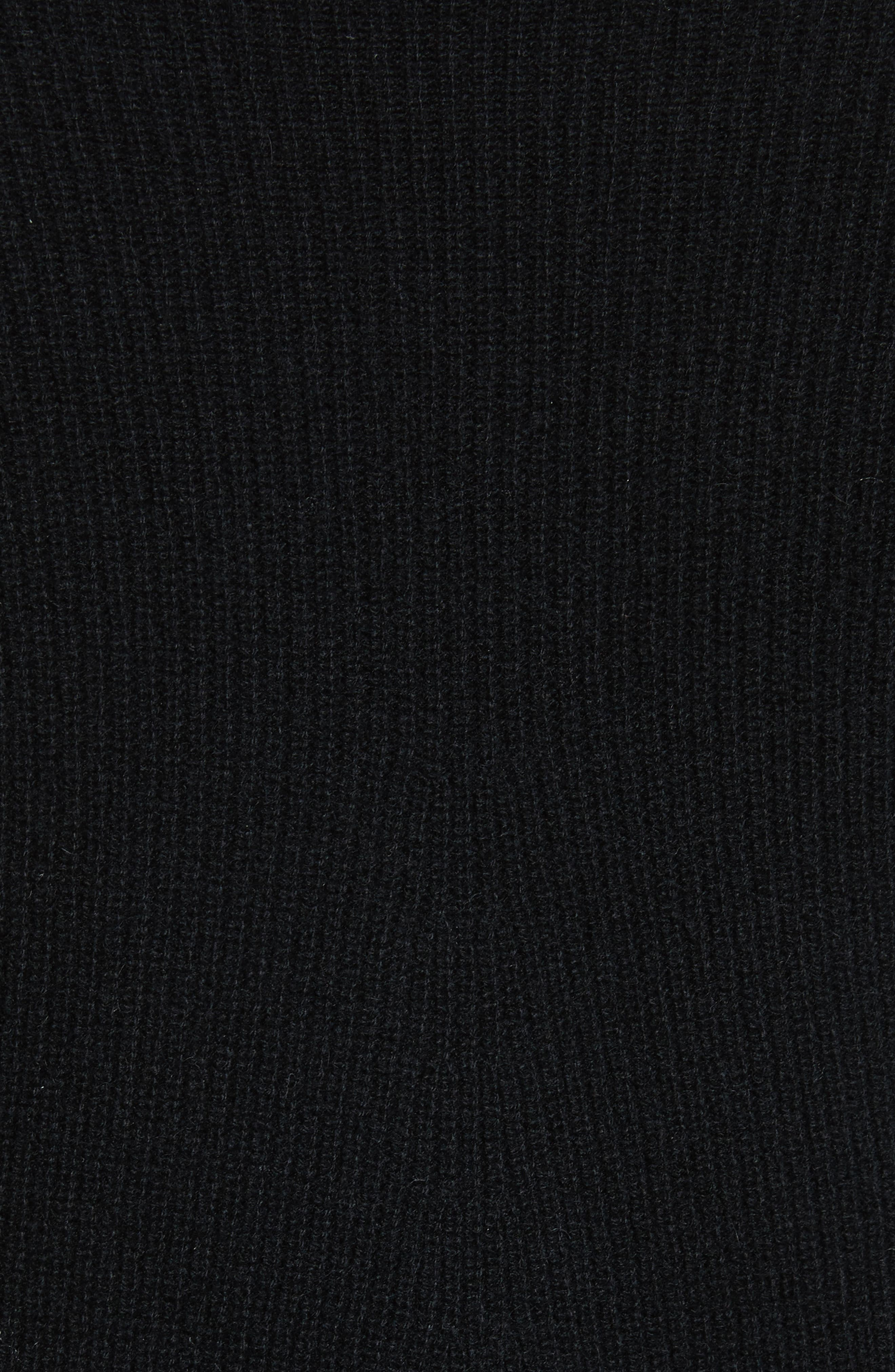 Ribbed Cashmere Sweater,                             Alternate thumbnail 5, color,                             Black