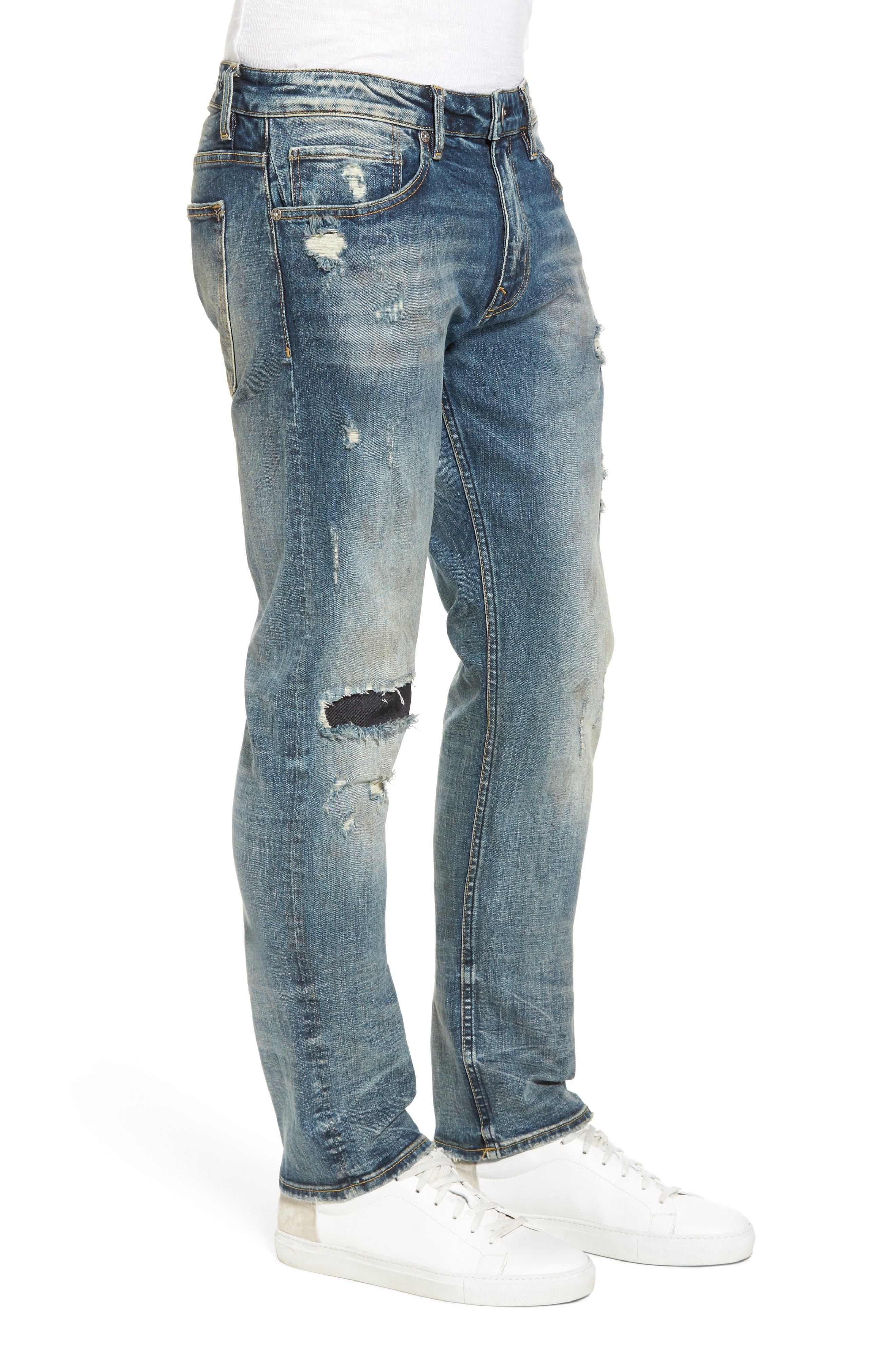 Slim Straight Leg Jeans,                             Alternate thumbnail 3, color,                             Tint Light