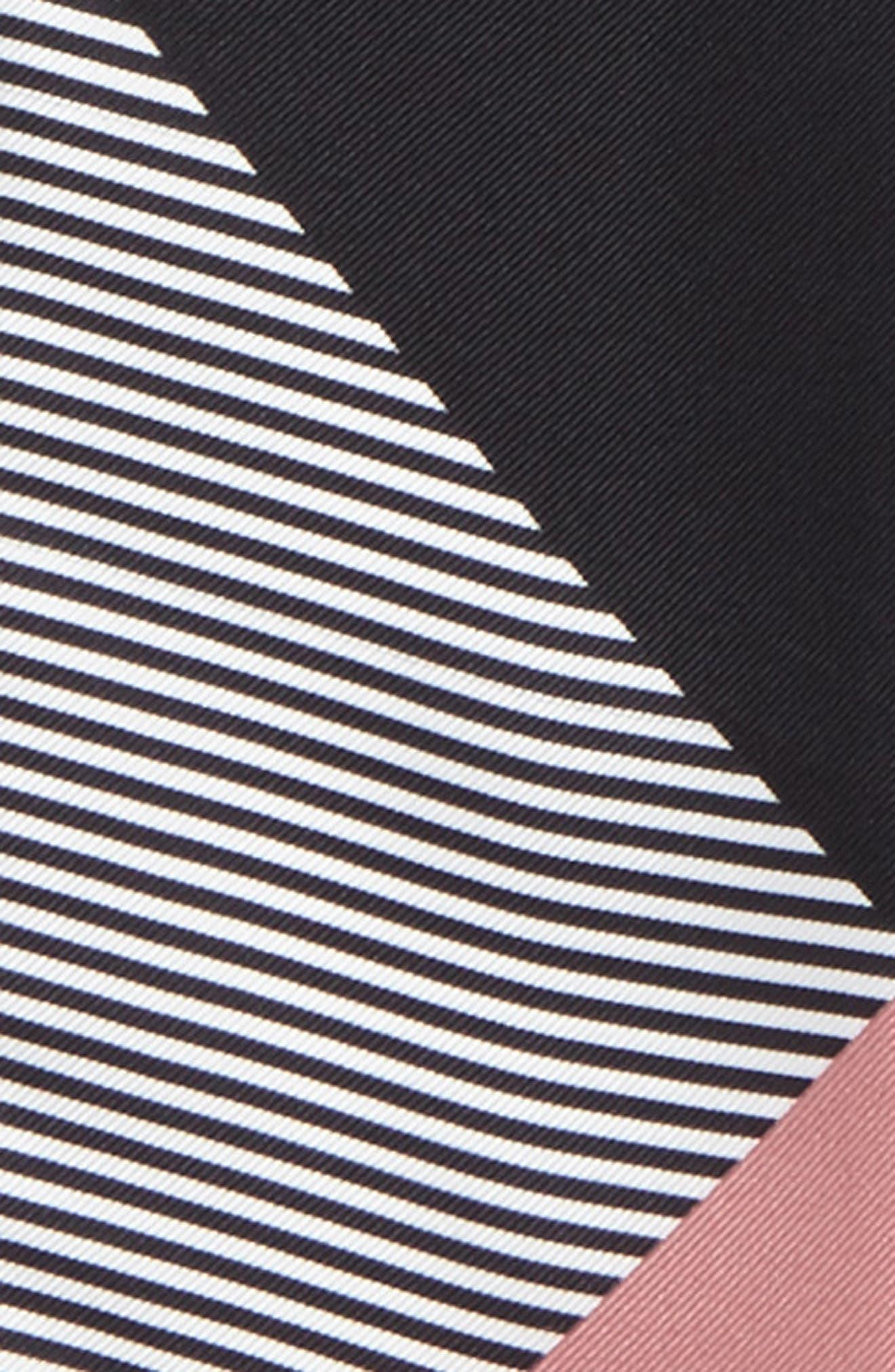 Mega Check Silk Skinny Scarf,                             Alternate thumbnail 3, color,                             Pale Bluebell