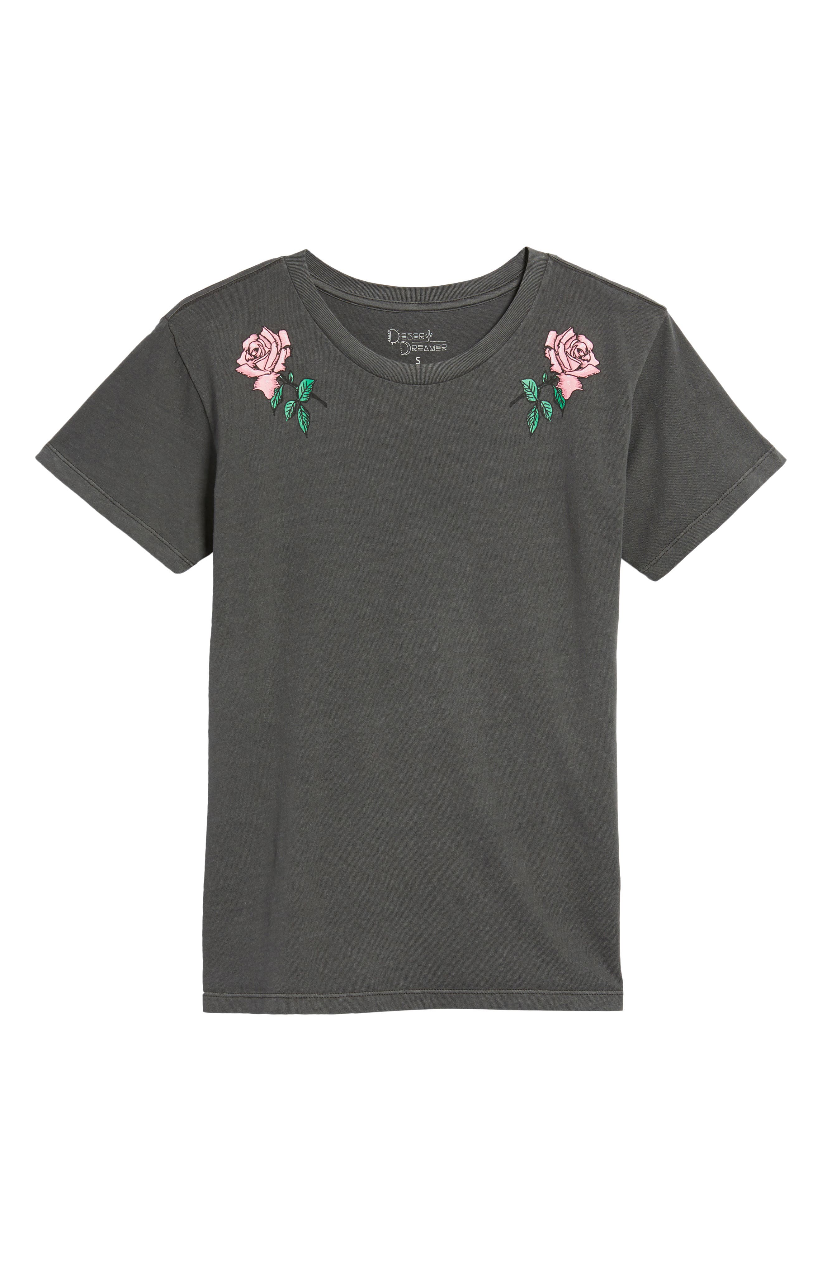 Boyfriend Graphic Tee,                             Alternate thumbnail 6, color,                             Rose Washed Black