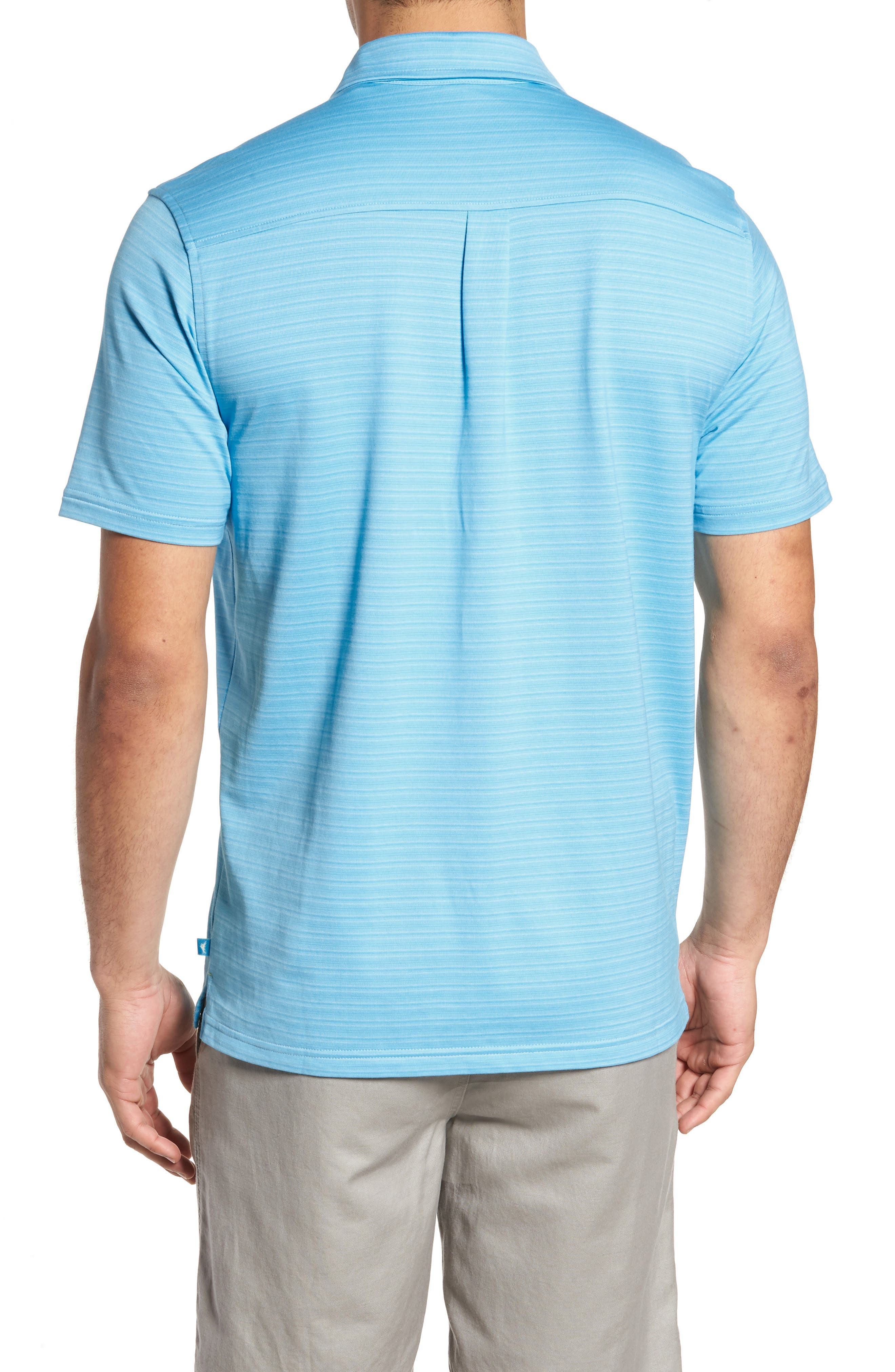 New On Par Stripe Polo,                             Alternate thumbnail 2, color,                             Breeze Blue