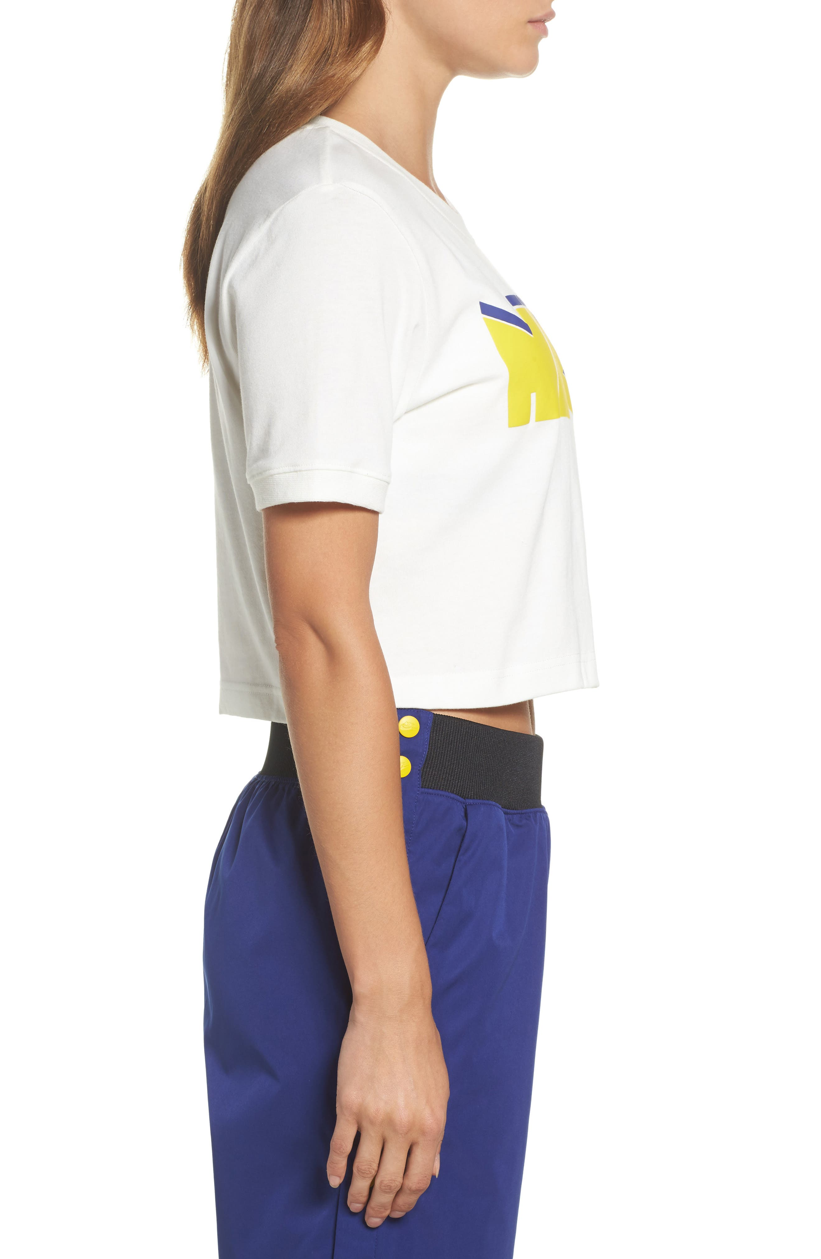 Sportswear Archive Crop Tee,                             Alternate thumbnail 3, color,                             Sail