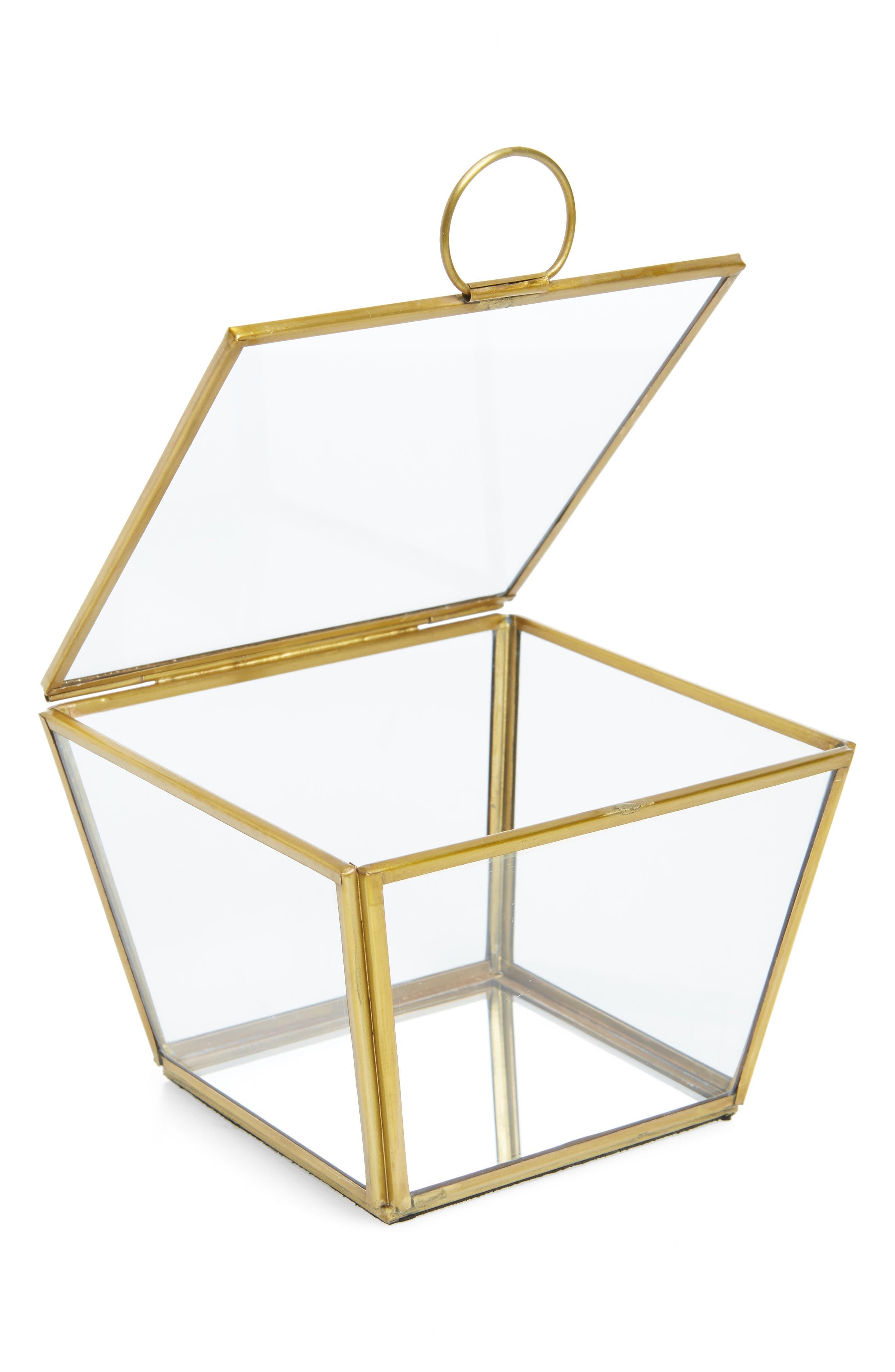 Large Wallace Trinket Box,                             Alternate thumbnail 2, color,                             Gold