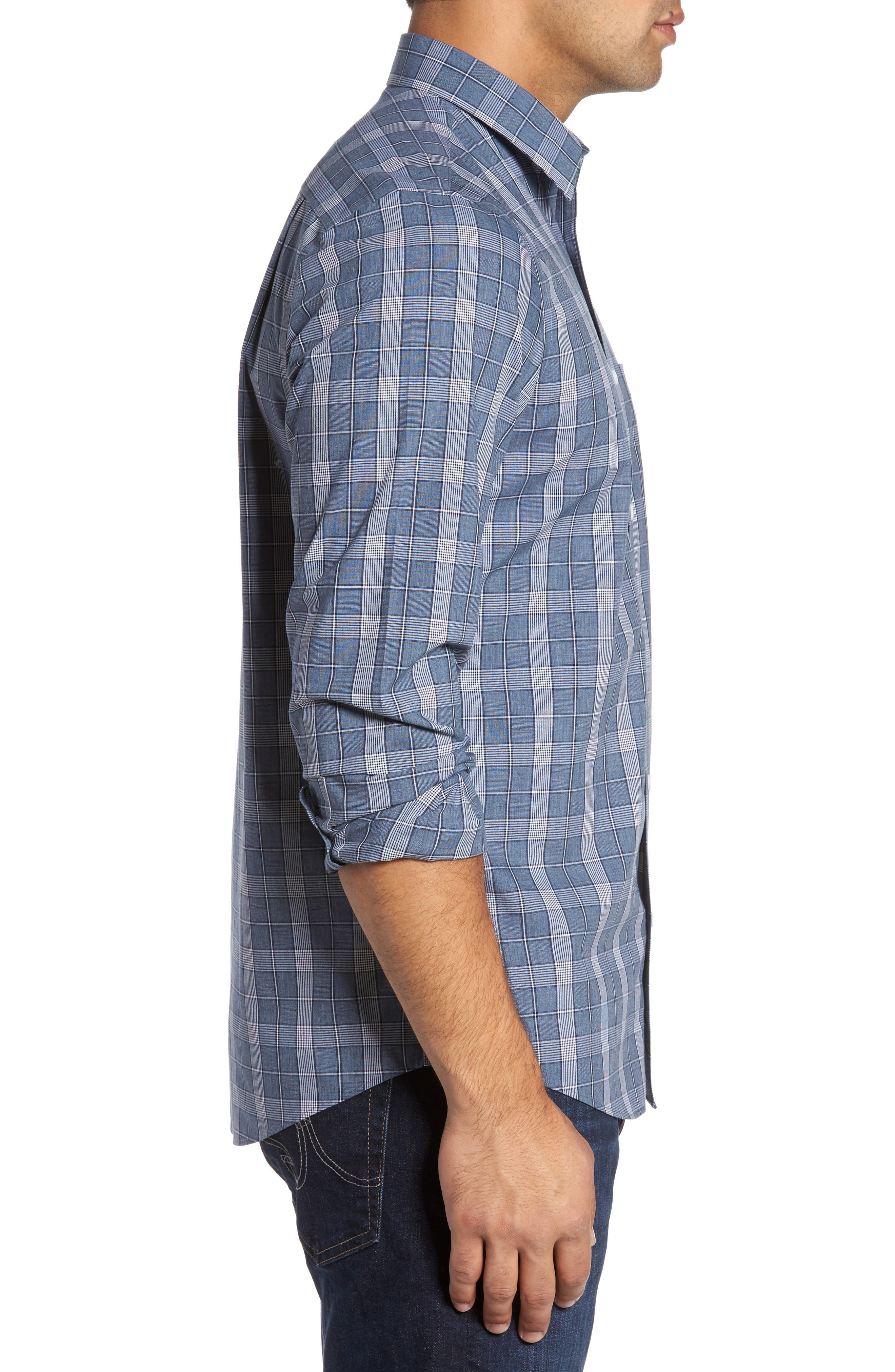 Alternate Image 3  - Nordstrom Men's Shop Non-Iron Spade Plaid Sport Shirt