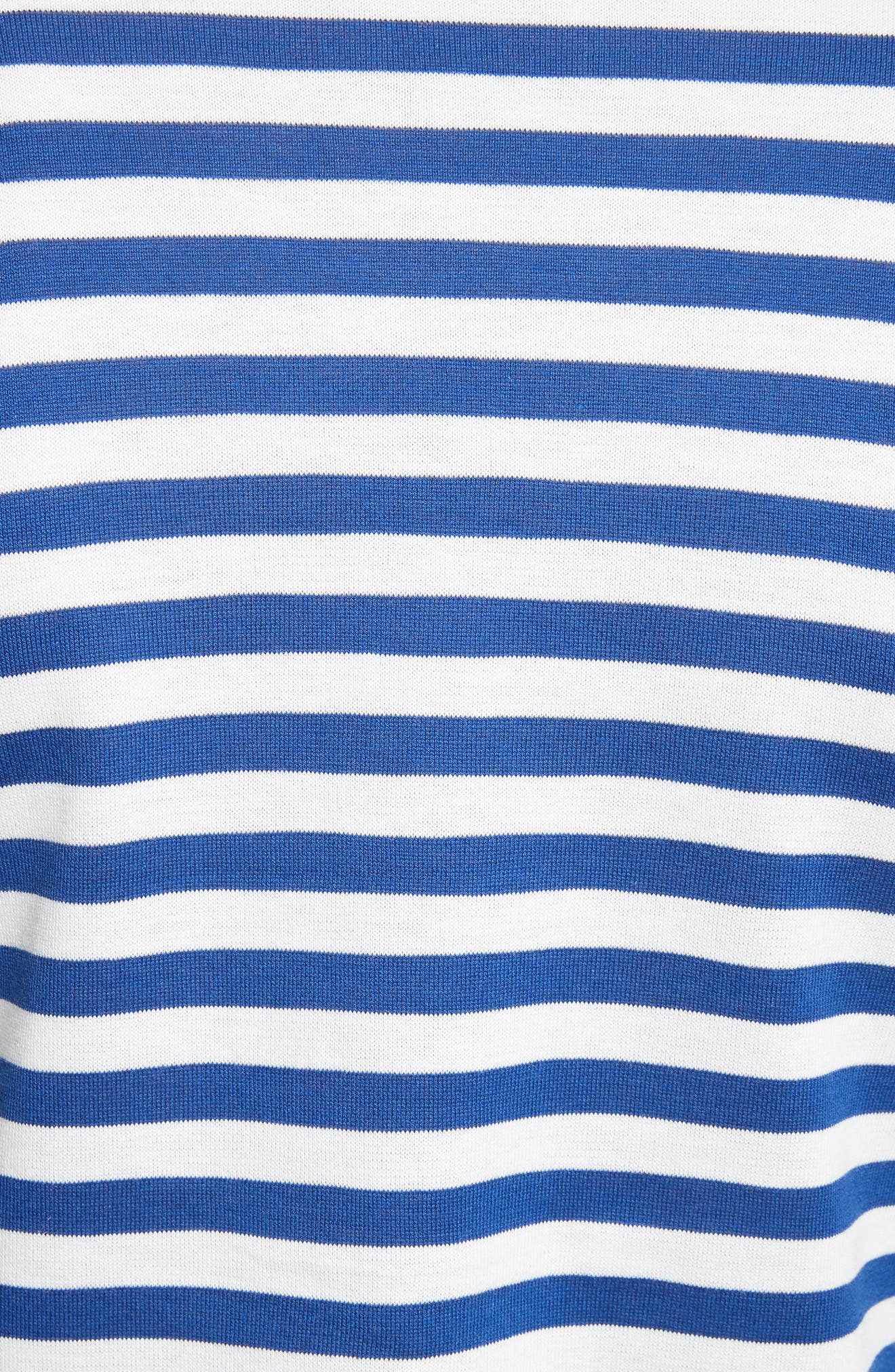 Comme des Garçons PLAY Stripe Cotton Tee,                             Alternate thumbnail 5, color,                             Navy/ White