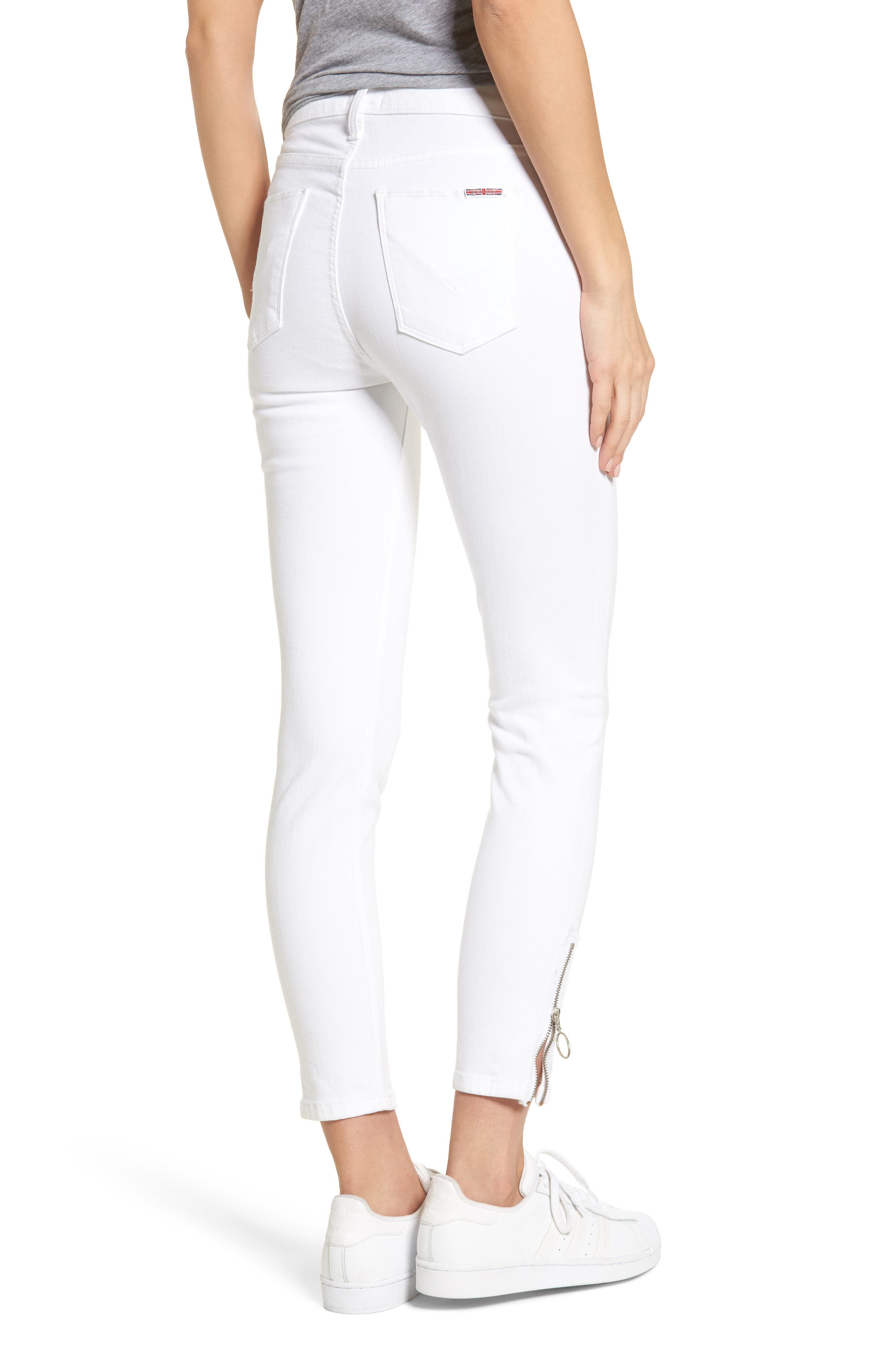 Barbara High Waist Ankle Skinny Jeans,                             Alternate thumbnail 2, color,                             Optical White