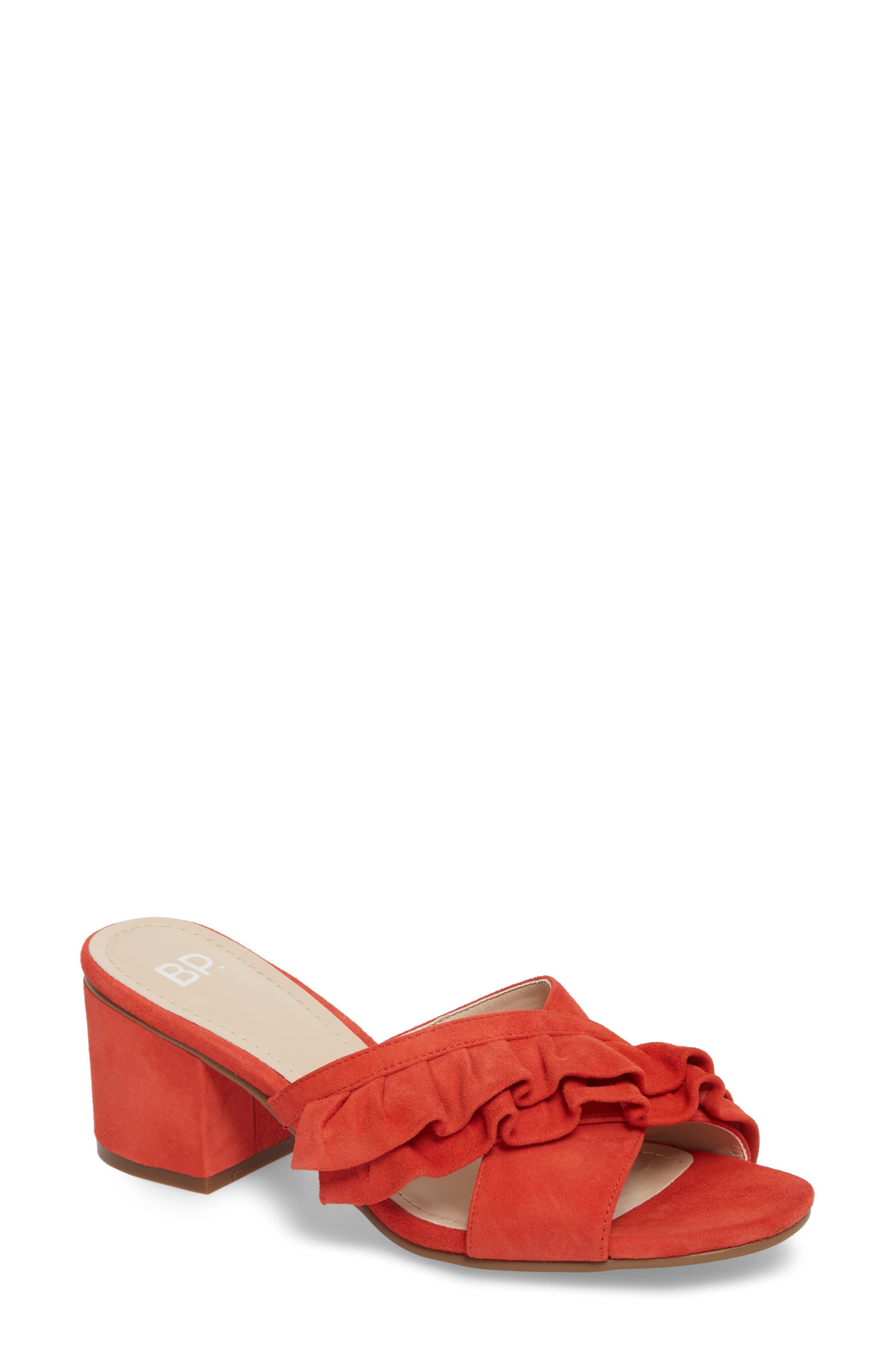 BP. Shari Ruffle Strap Slide Sandal (Women)