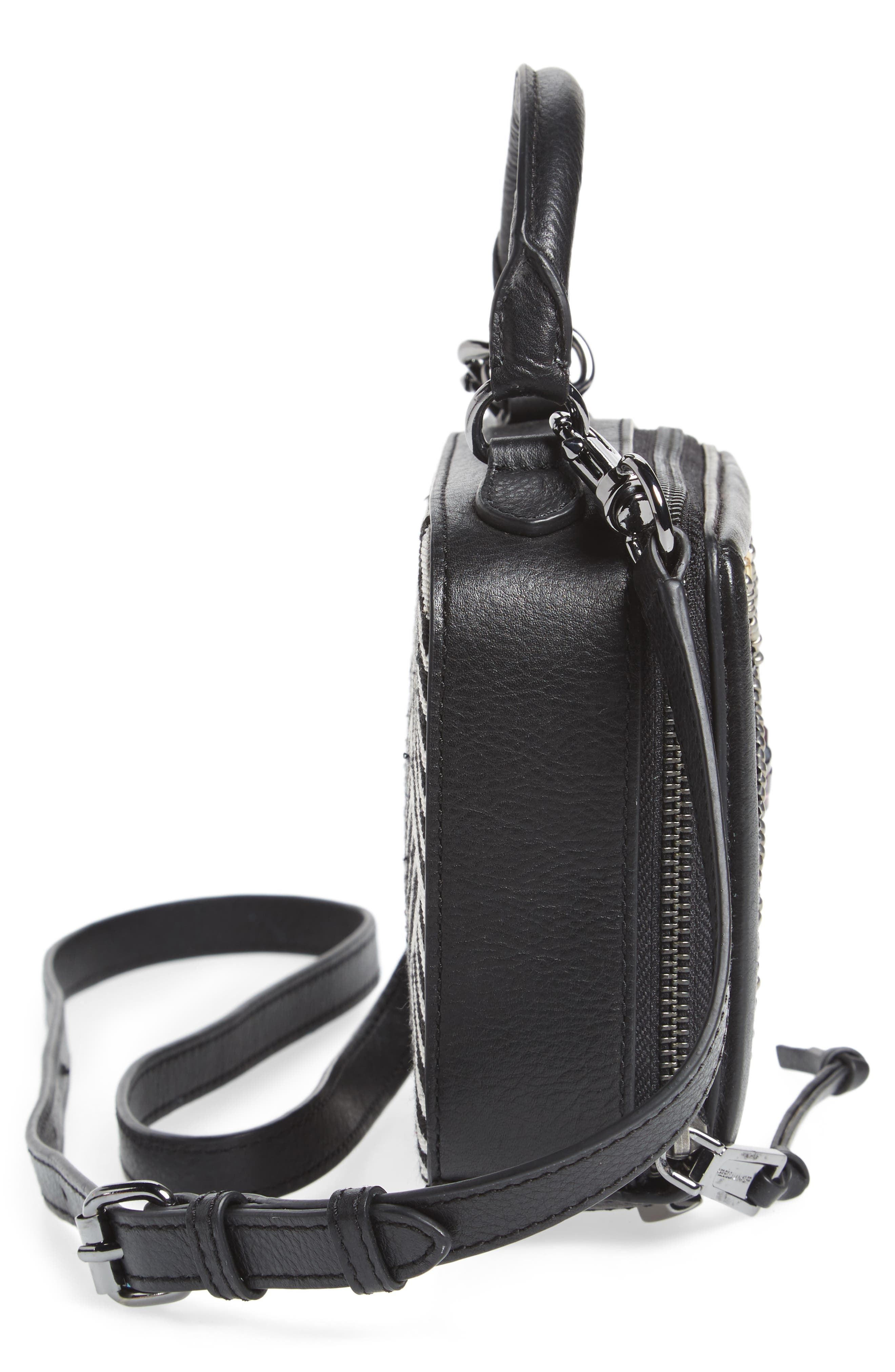 Wonder Box Embellished Crossbody Bag,                             Alternate thumbnail 5, color,                             Black Metallic Multi