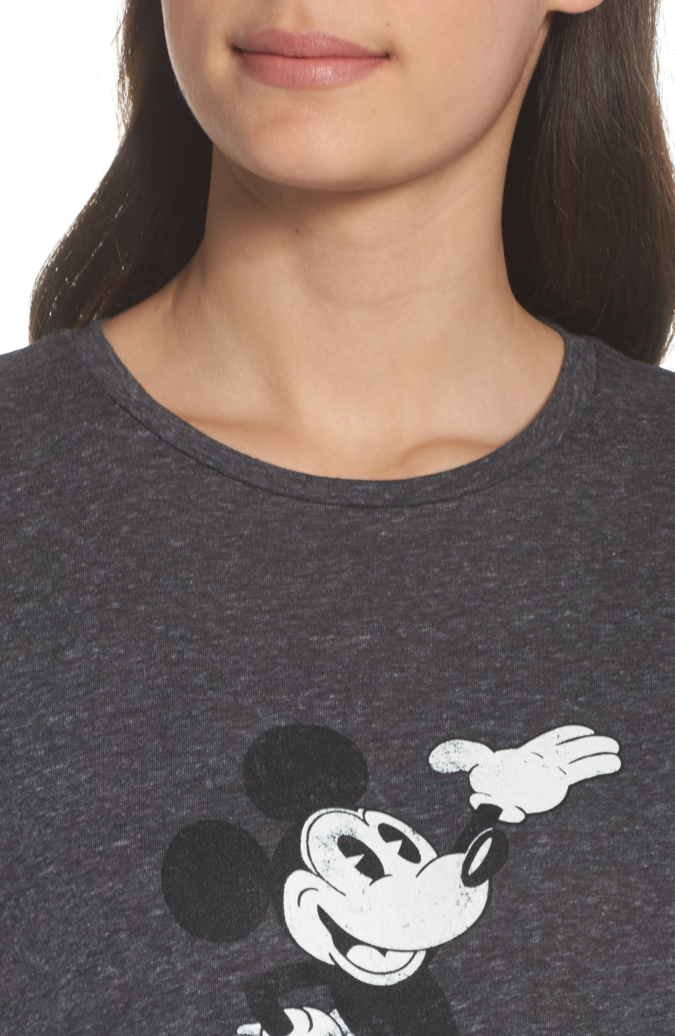 Mickey Mouse Tee,                             Alternate thumbnail 5, color,                             Charcoal Heather