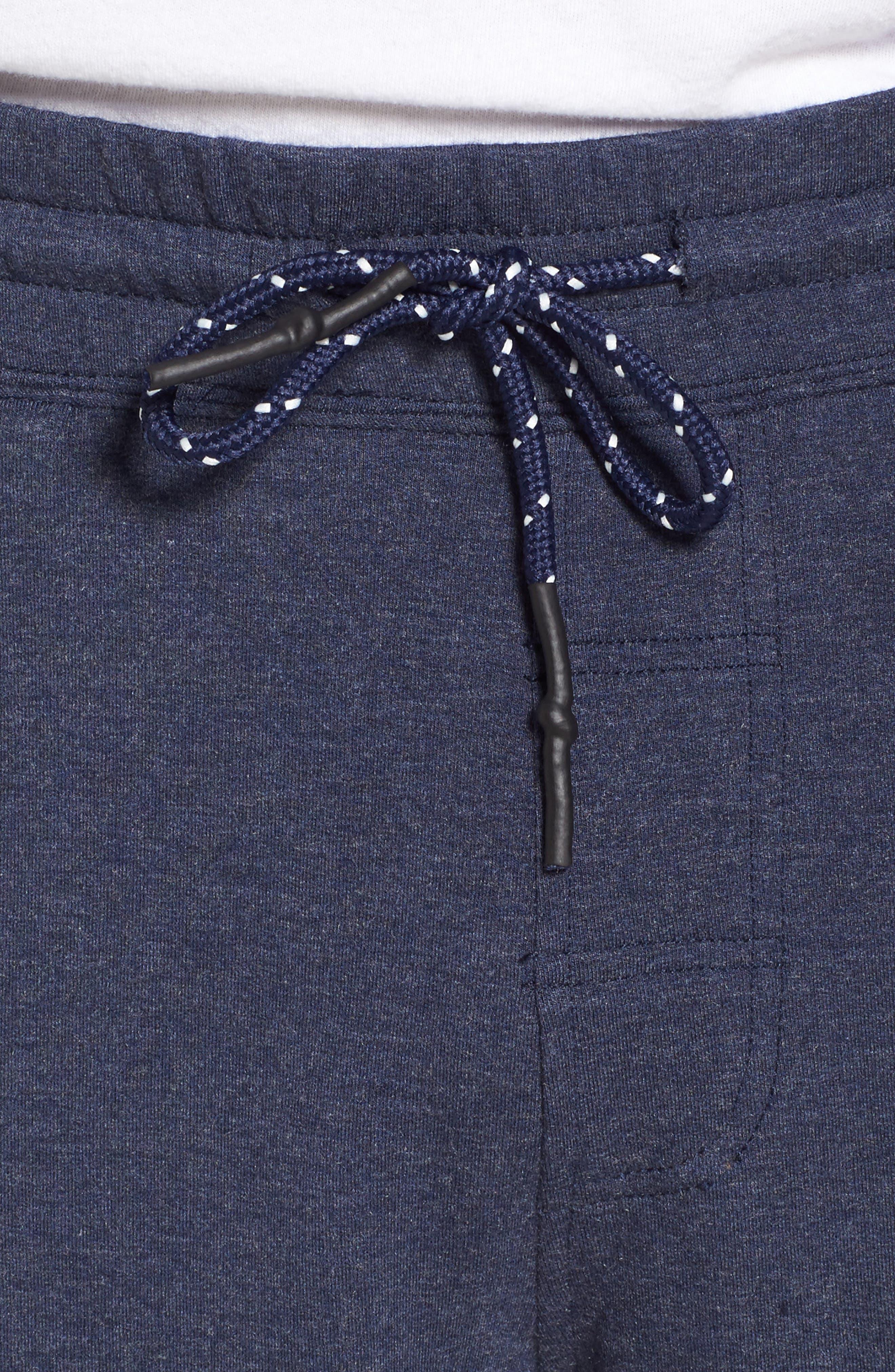 Brushback Fleece Shorts,                             Alternate thumbnail 4, color,                             Navy Heather