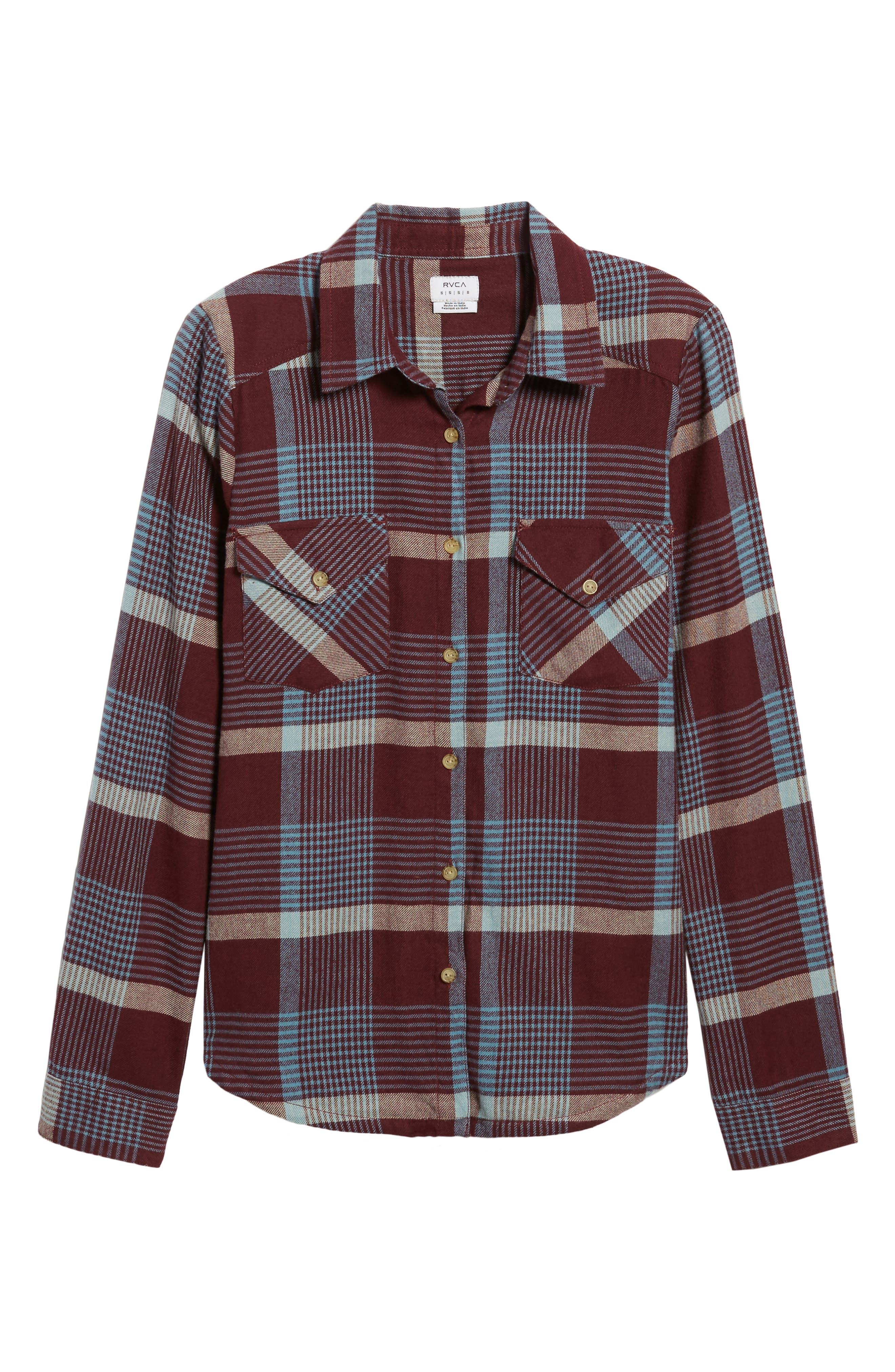 Alternate Image 6  - RVCA Plaid Flannel Shirt