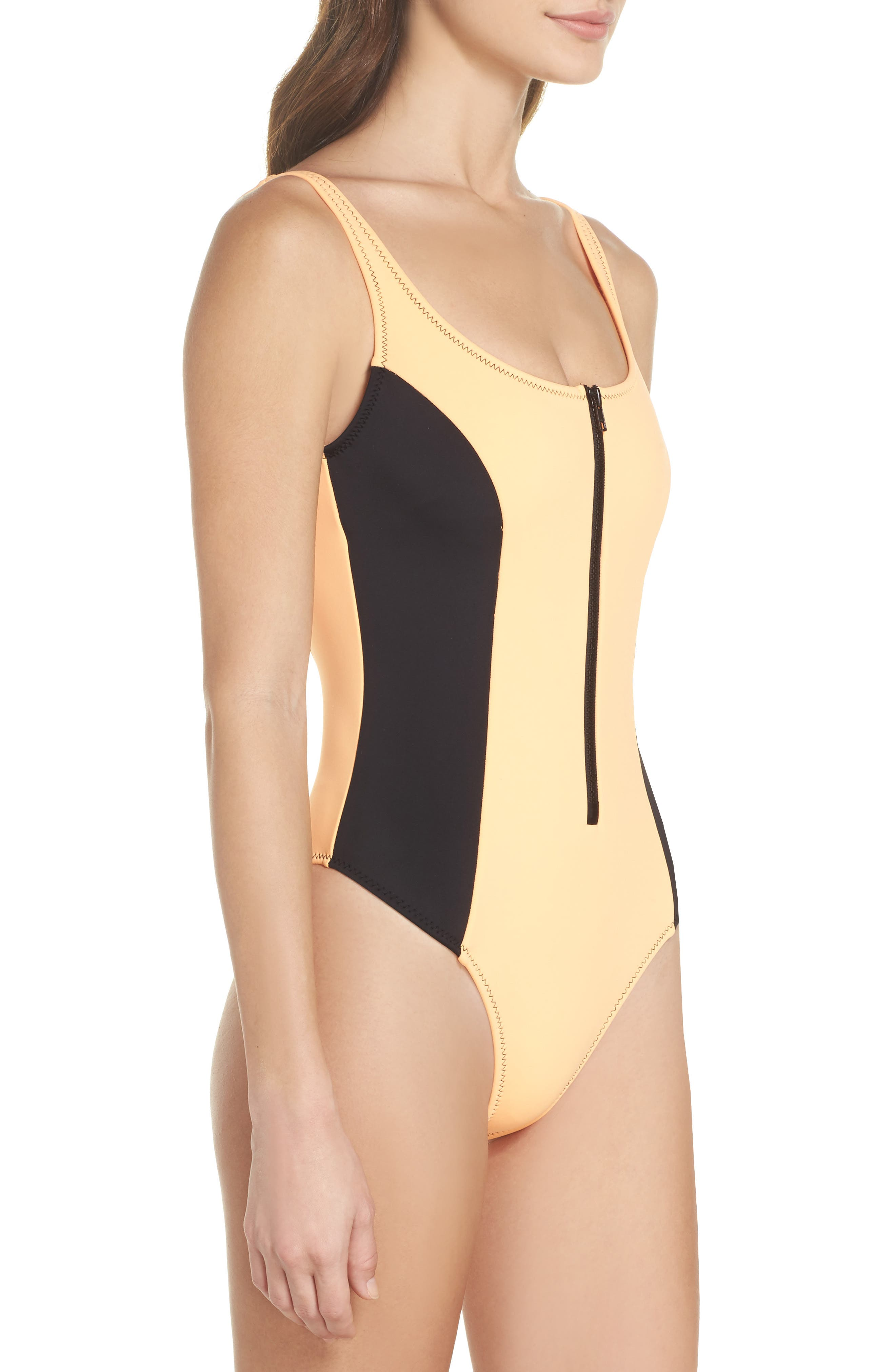Time After Time One-Piece Swimsuit,                             Alternate thumbnail 3, color,                             Mango