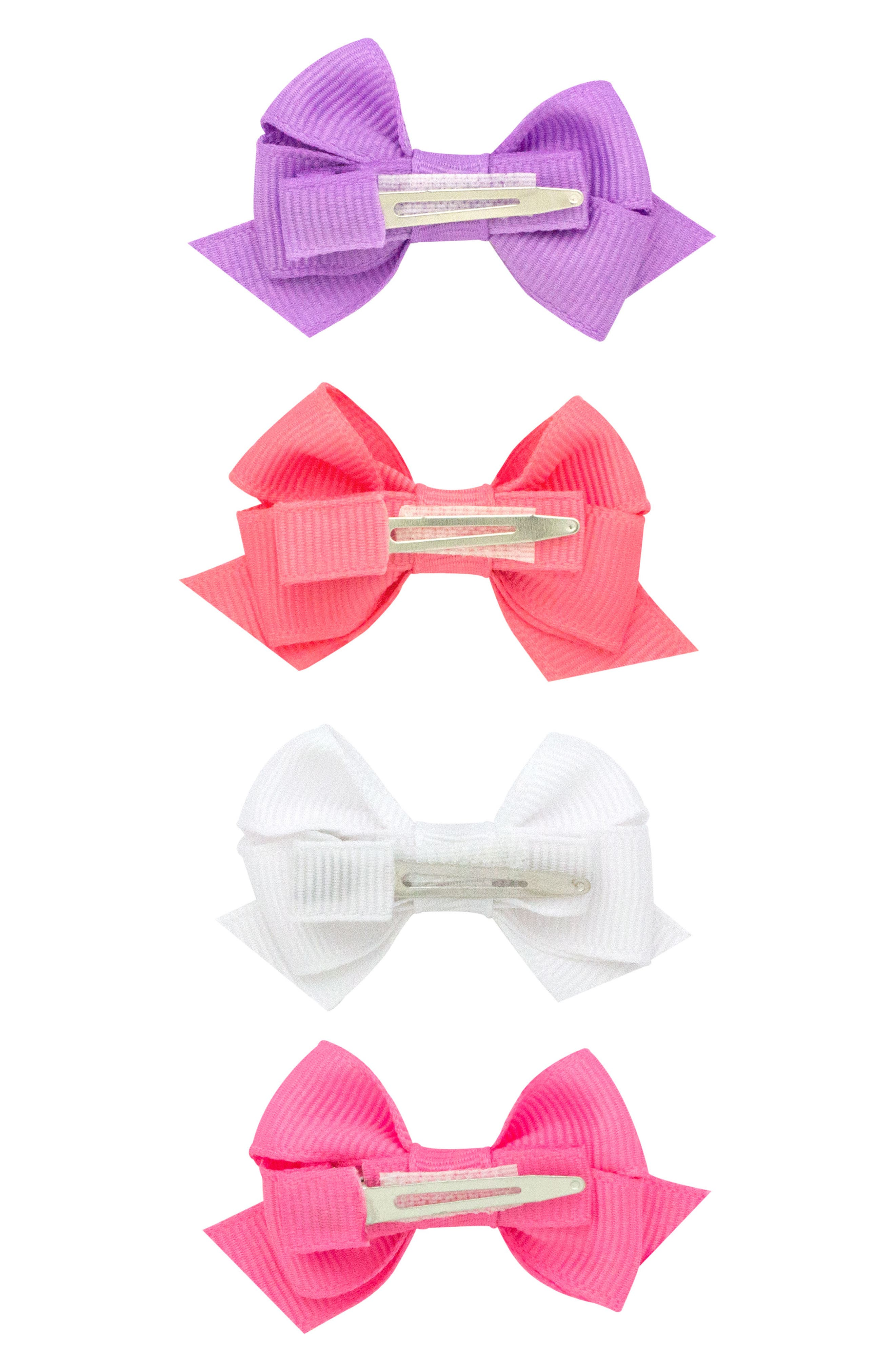 Bow Clips,                             Alternate thumbnail 2, color,                             Coral