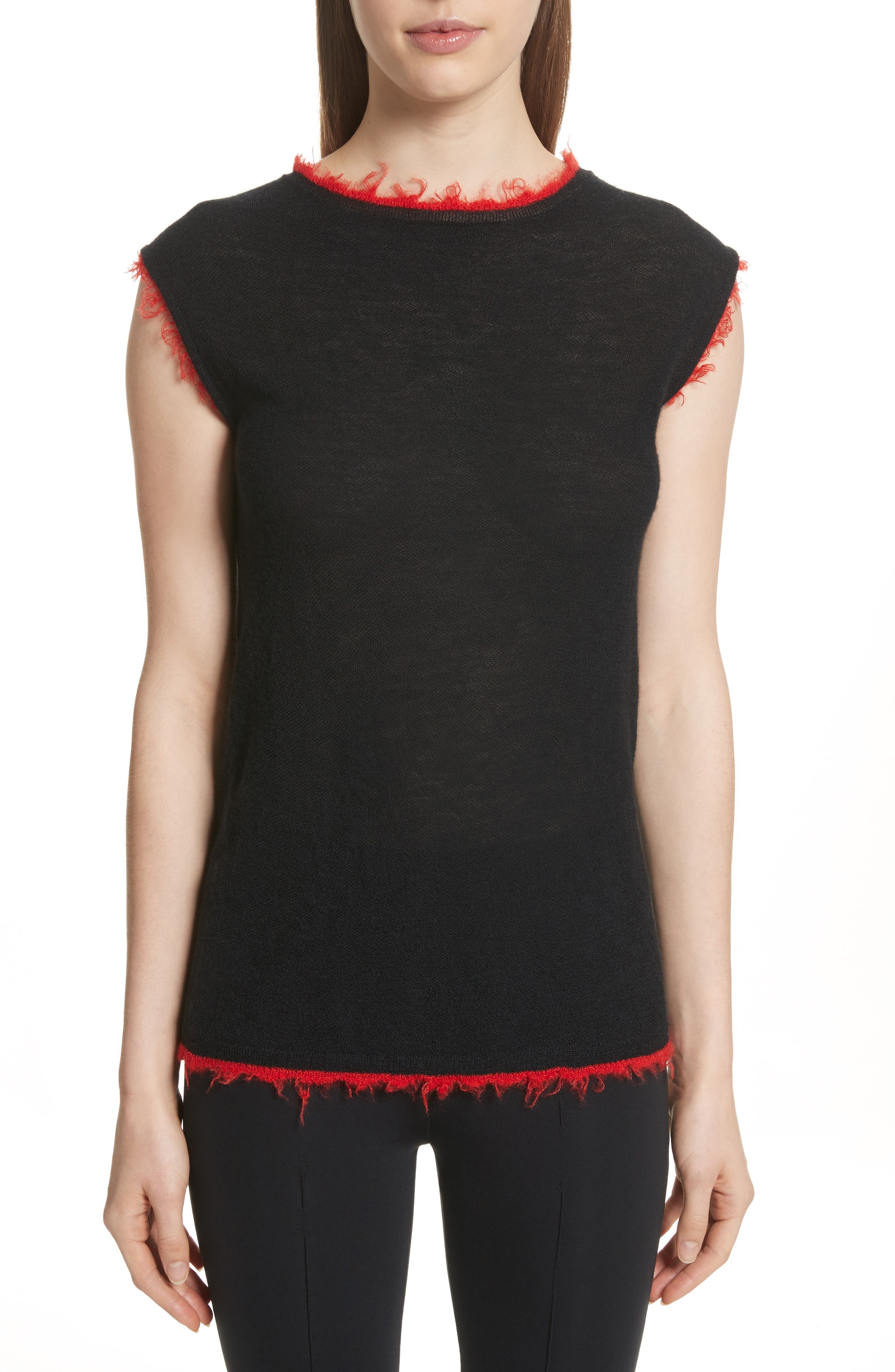 Helmut Lang Frayed Edge Cashmere Shell