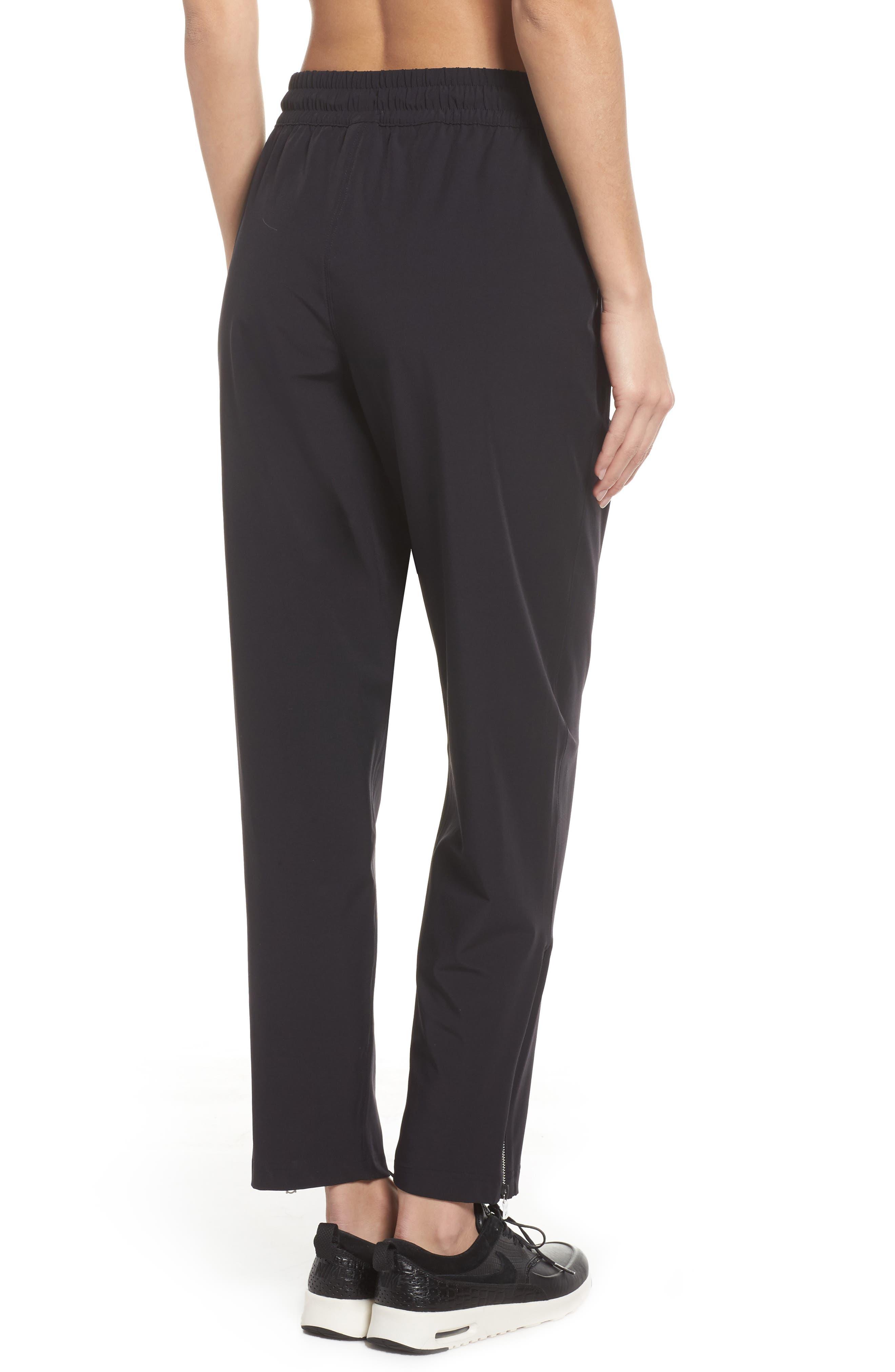 NikeLab Stretch Woven Training Pants,                             Alternate thumbnail 2, color,                             Black/ Black