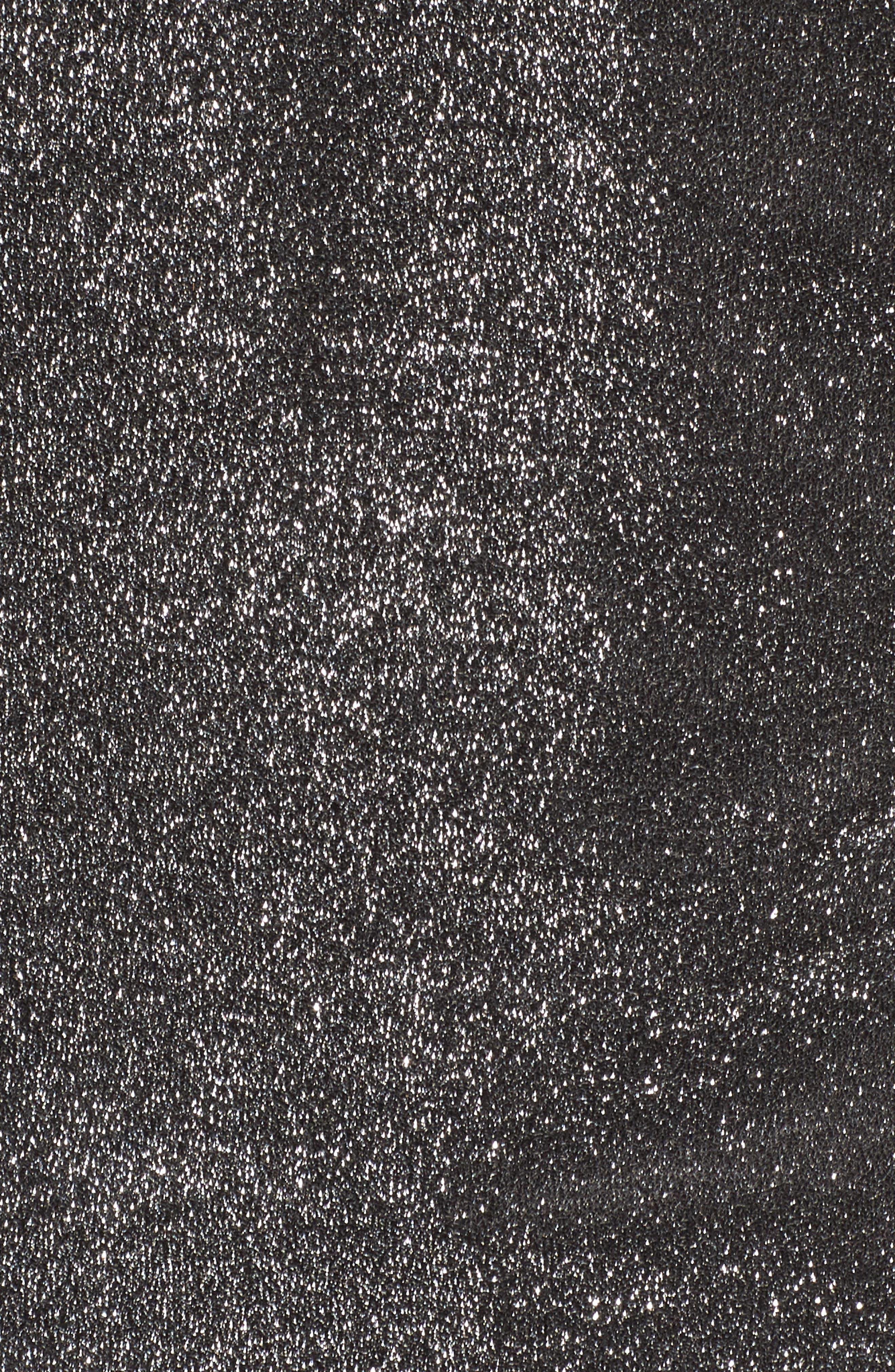 Ruffle Metallic Top,                             Alternate thumbnail 5, color,                             Silver Shimmer