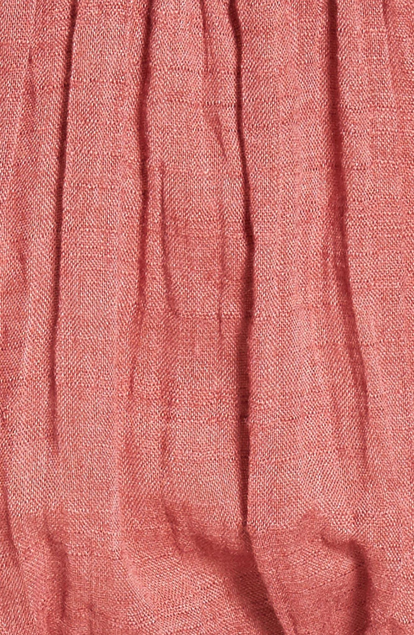 Darla Off the Shoulder Minidress,                             Alternate thumbnail 5, color,                             Brick