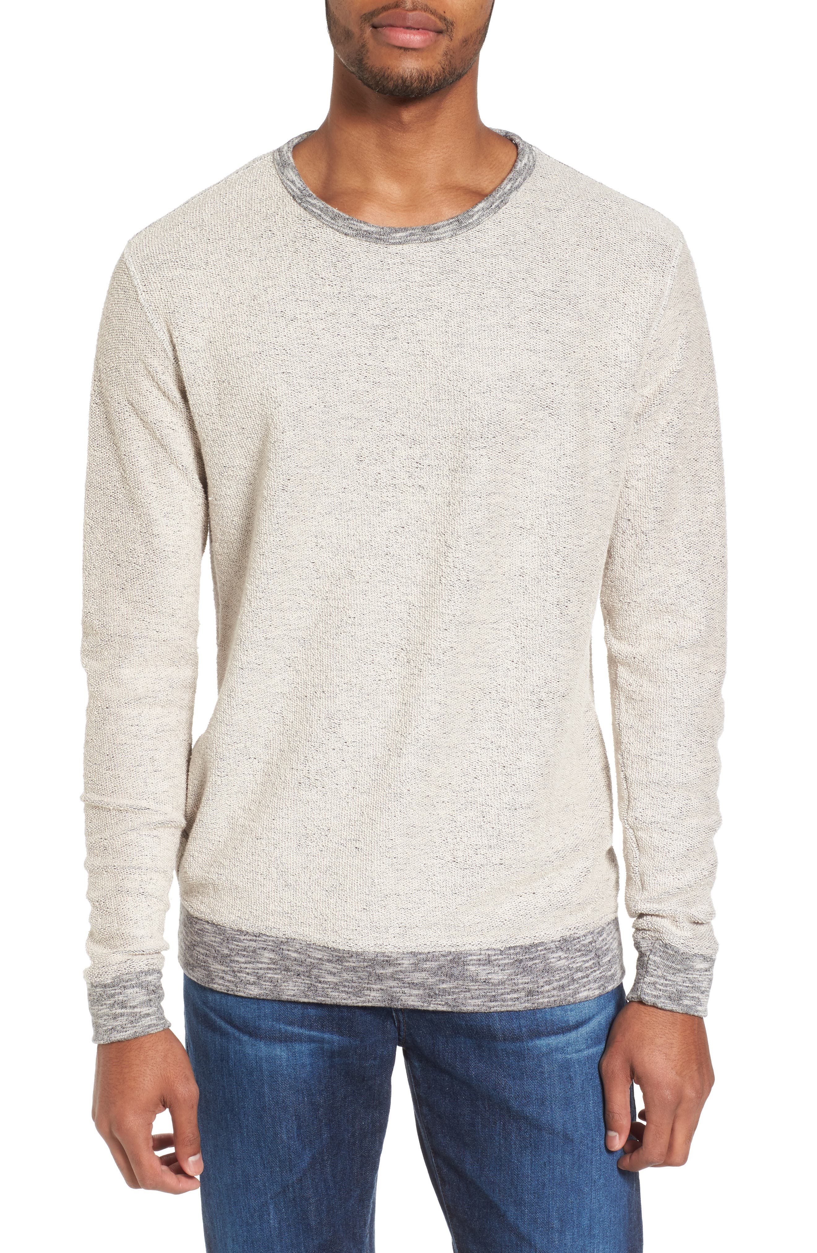 Reverse French Terry Sweatshirt,                             Main thumbnail 1, color,                             Grey