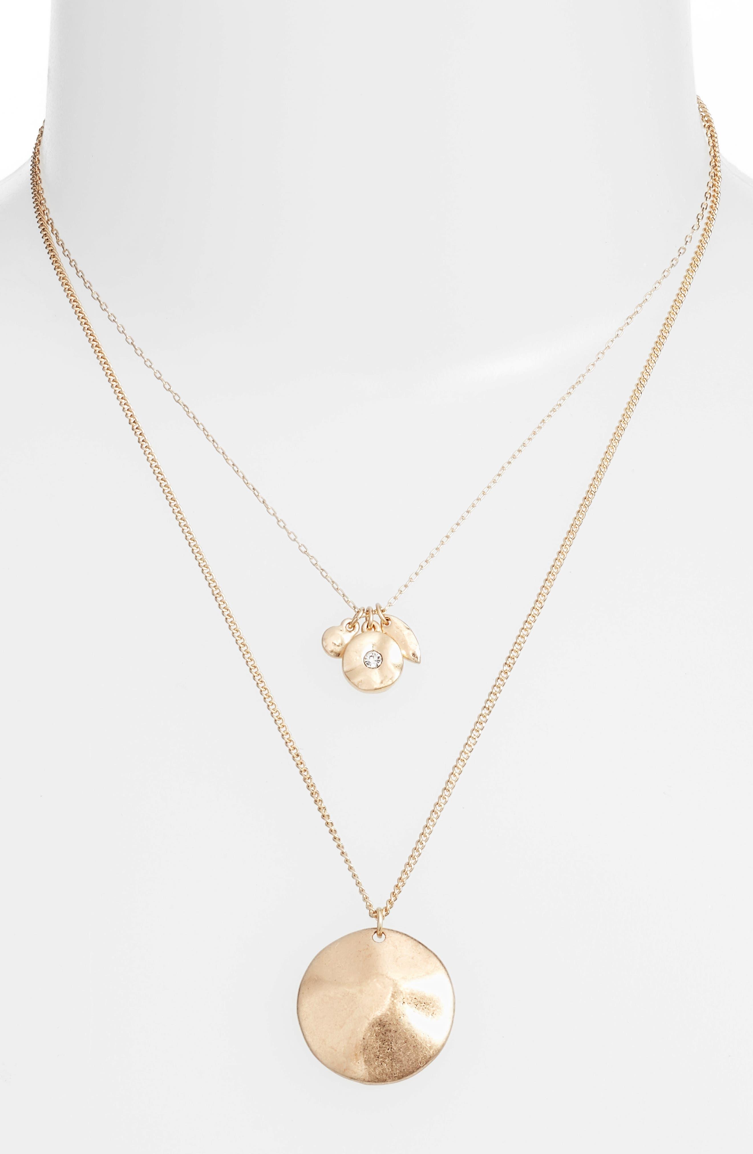 Treasure & Bond Layered Disc Necklace