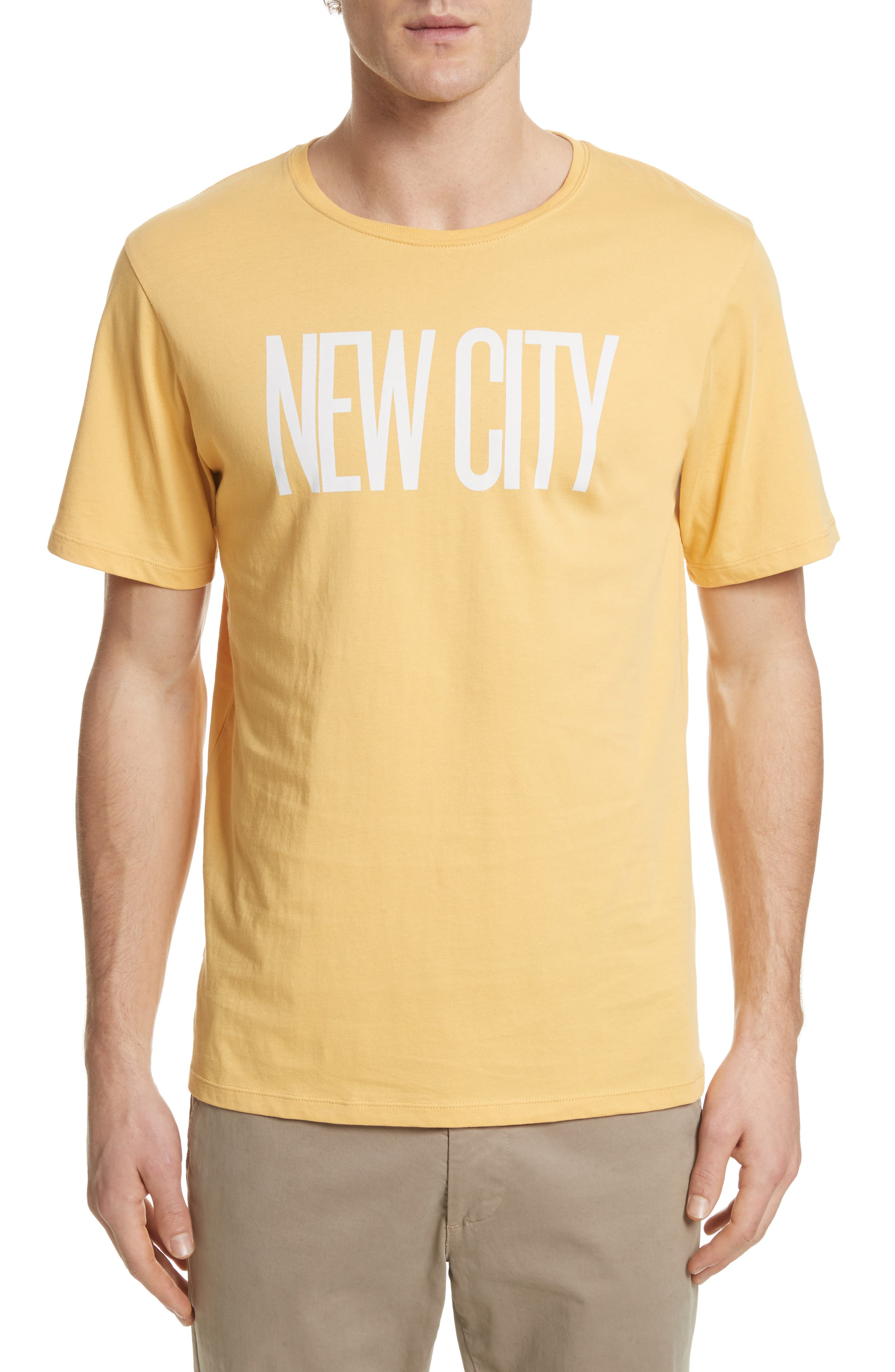 New City Graphic T-Shirt,                             Main thumbnail 1, color,                             Dusty Amber
