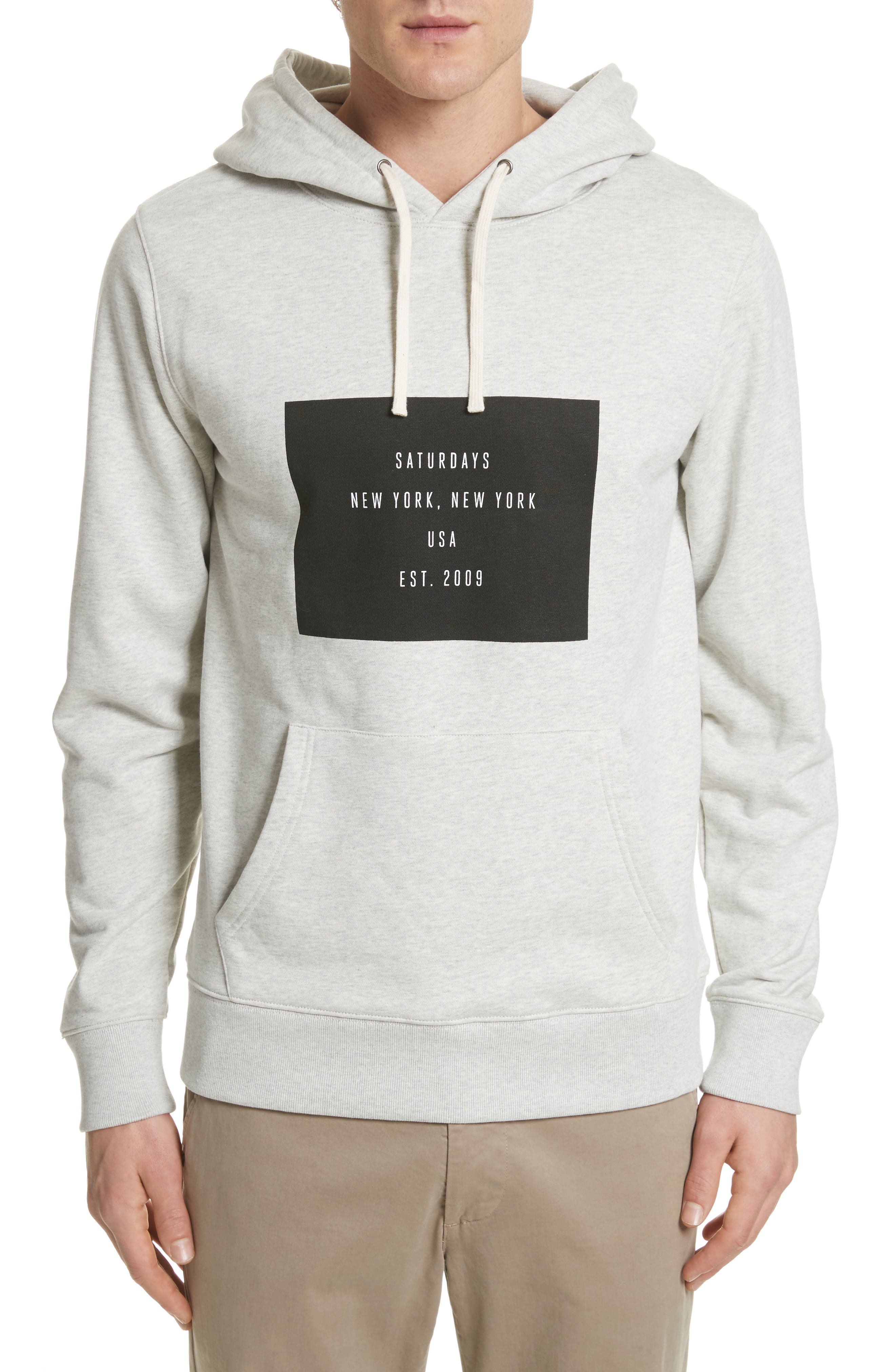 Ditch Graphic Hoodie,                         Main,                         color, Natural Heather