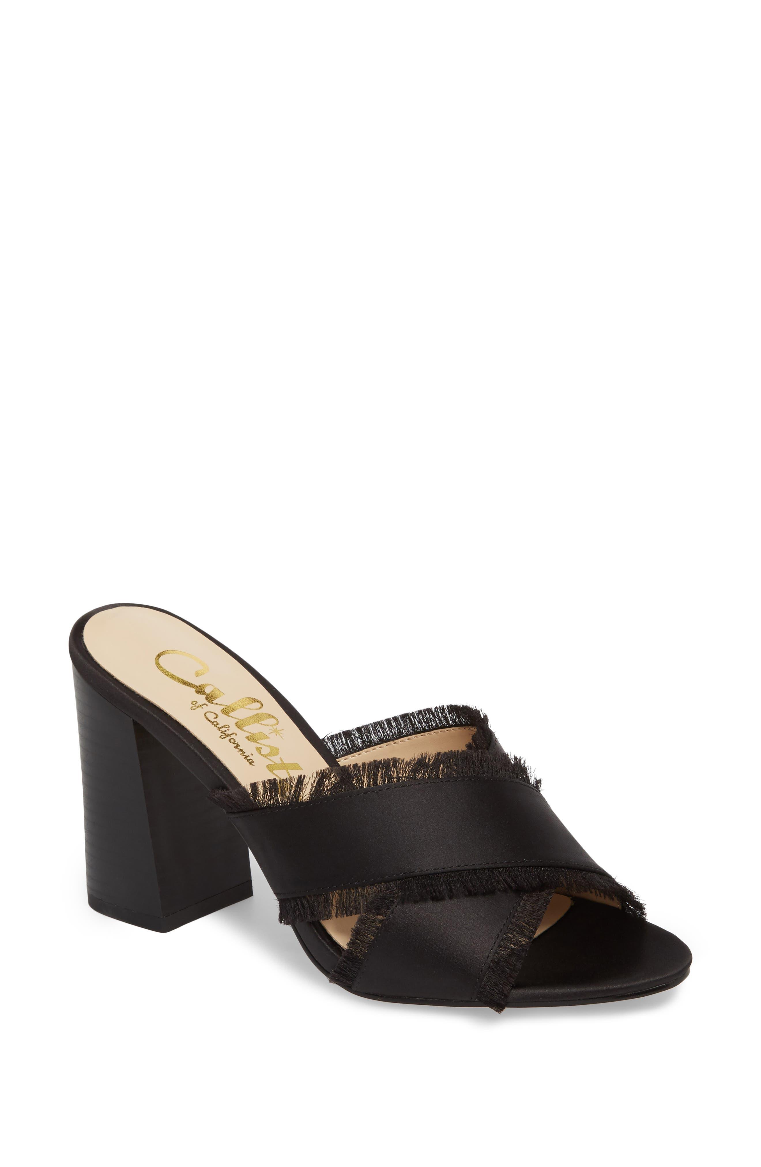 Callisto Delaney Fringe Cross Strap Sandal (Women)