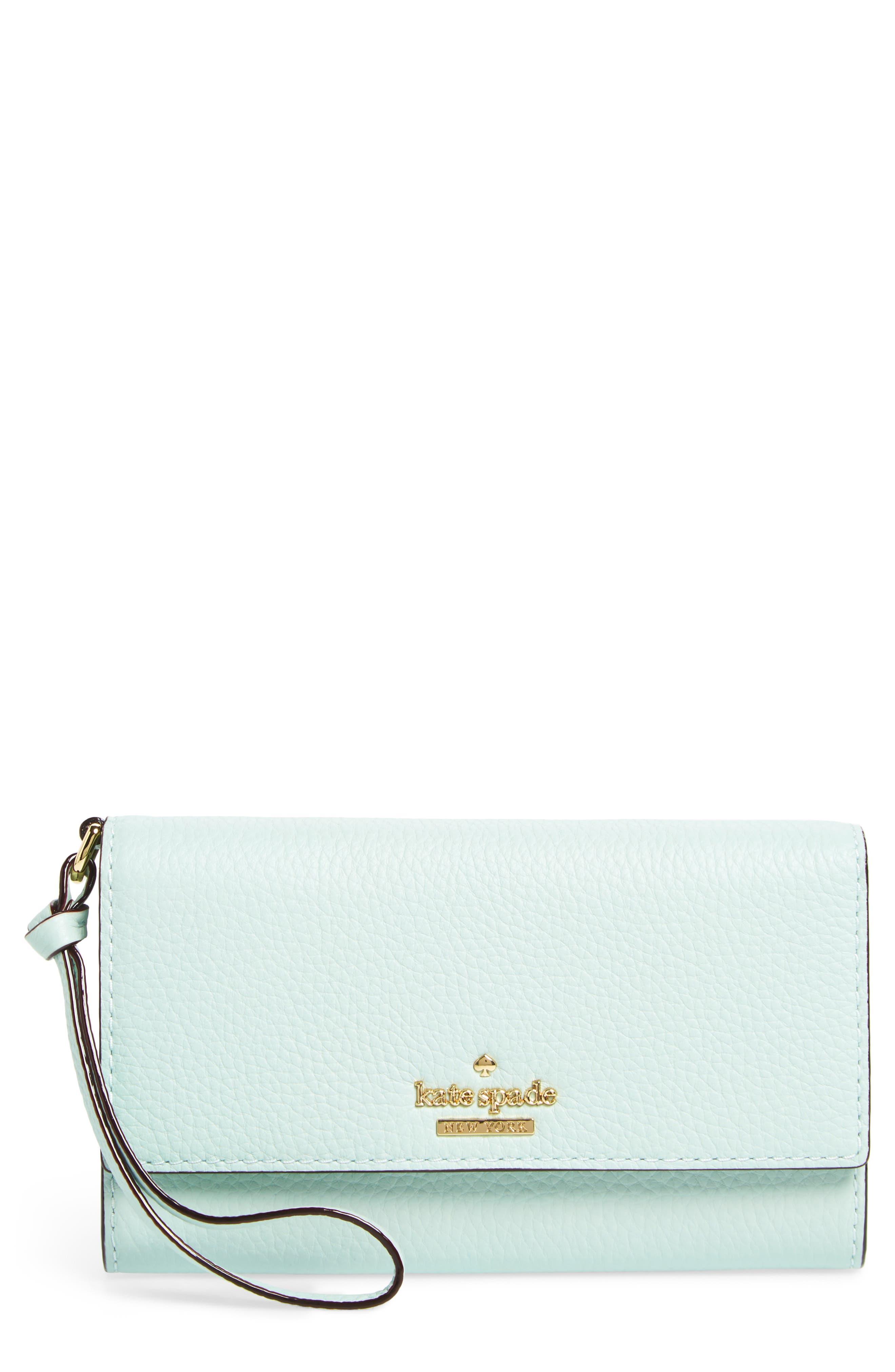 jackson street malorie leather wallet,                         Main,                         color, Misty Mint