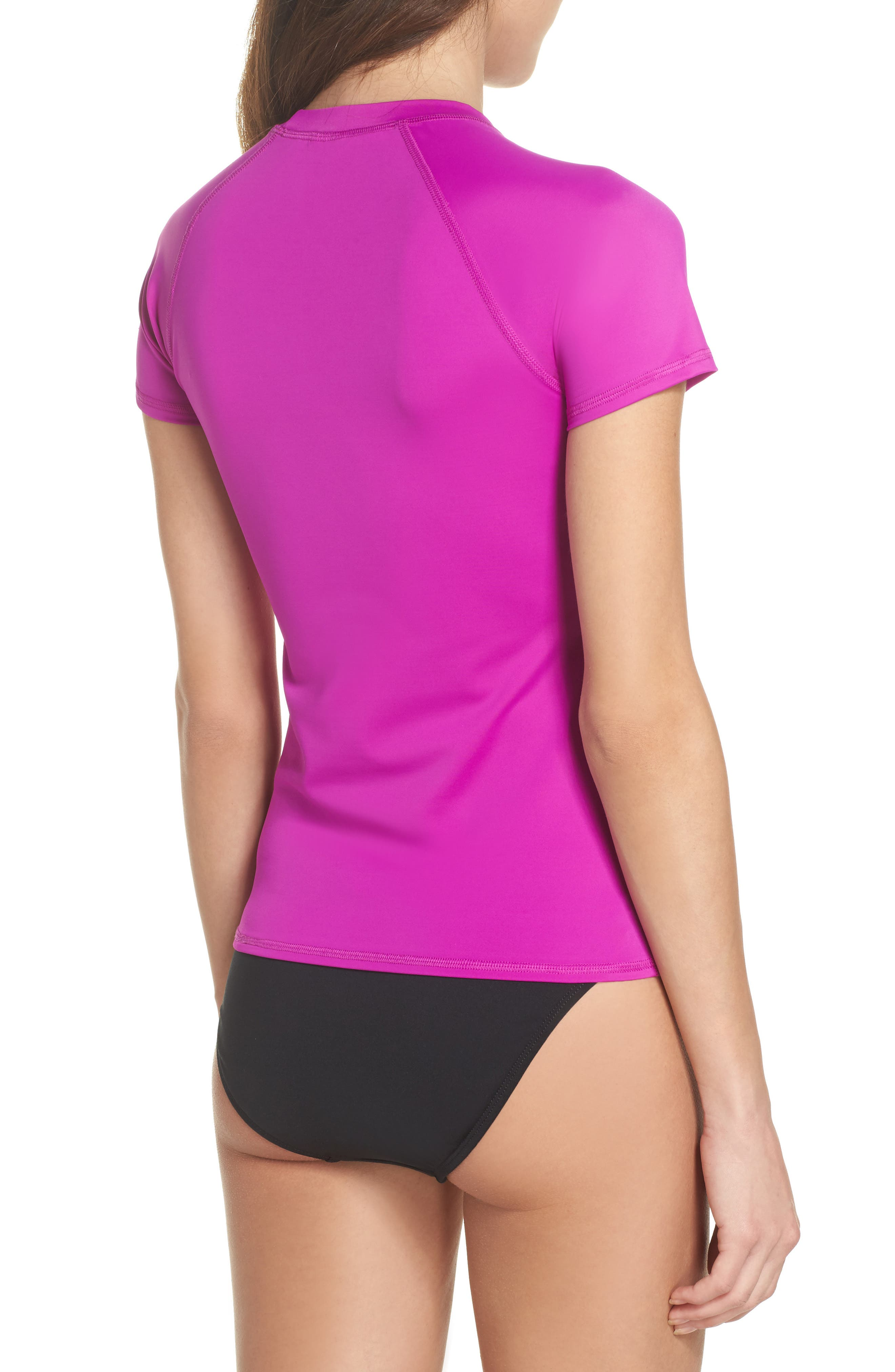 'Smoothies in Motion' Short Sleeve Rashguard,                             Alternate thumbnail 2, color,                             Magnolia