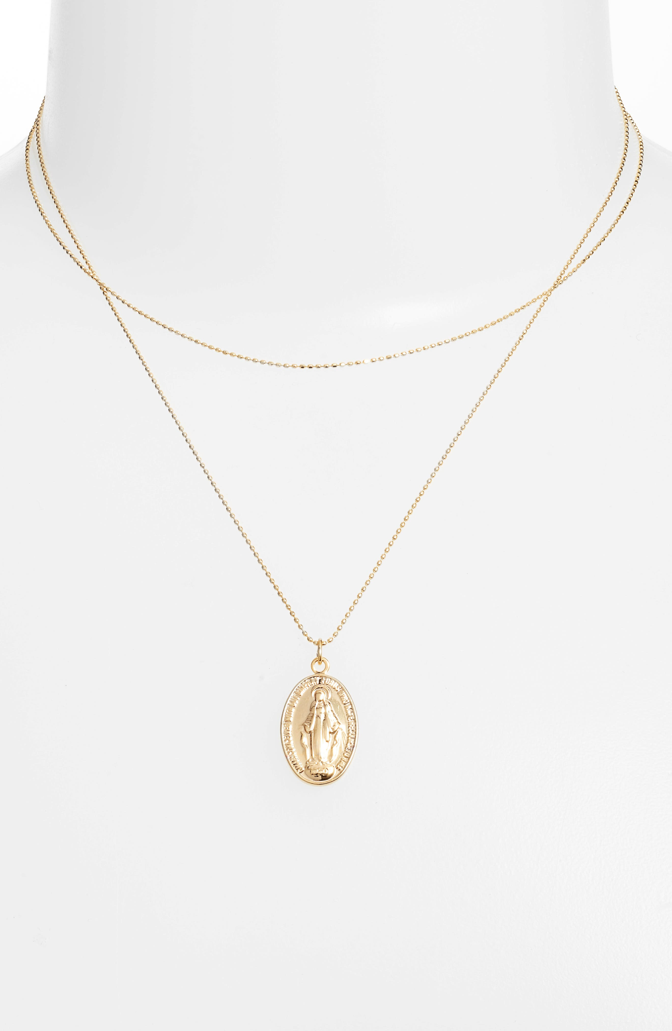 Valentina Pendant Necklace,                             Alternate thumbnail 2, color,                             Gold
