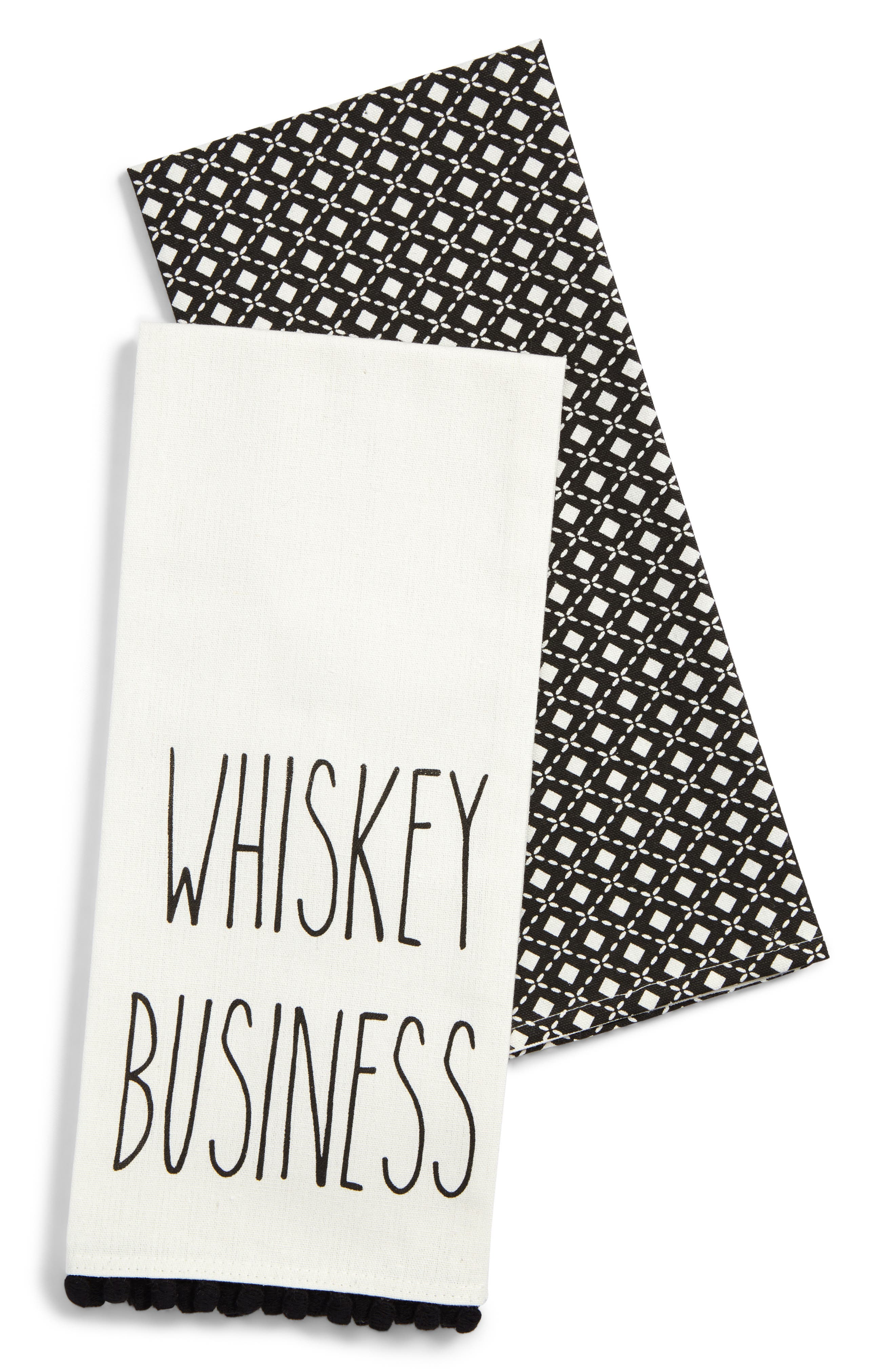 Levtex Whiskey Business Set of 2 Dish Towels