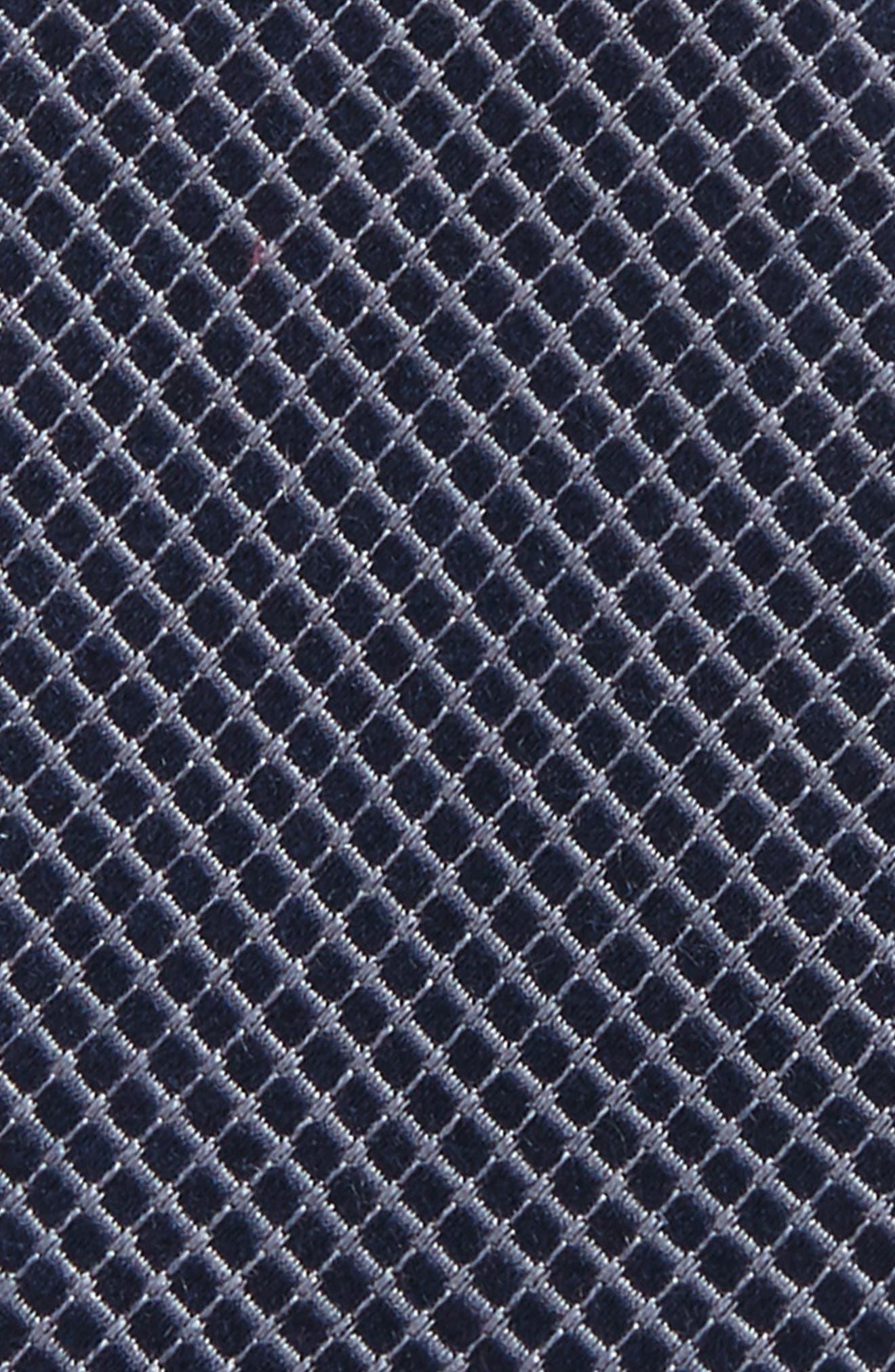 Geometric Silk Bow Tie,                             Alternate thumbnail 2, color,                             Navy