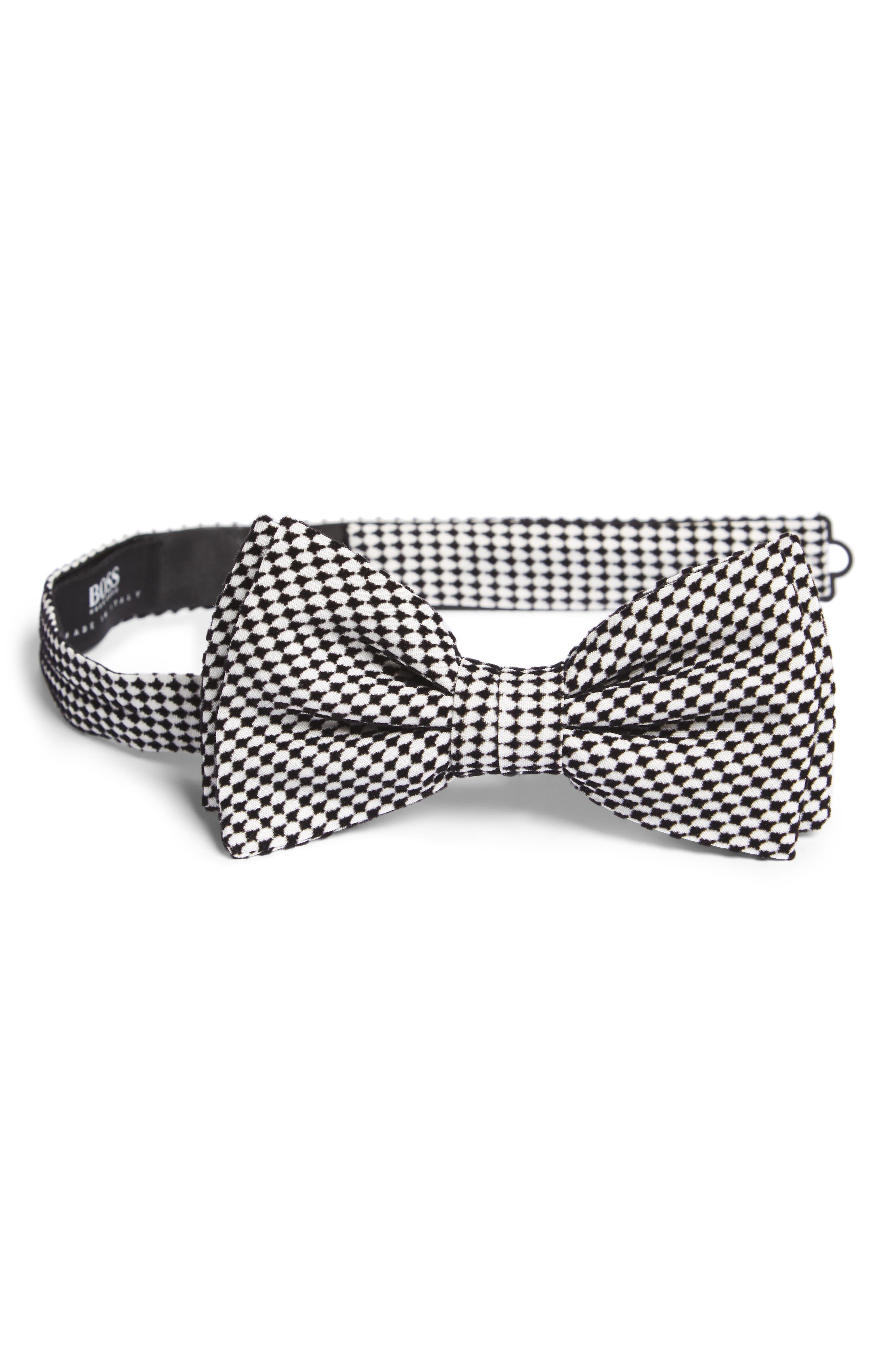BOSS Geometric Velvet Bow Tie