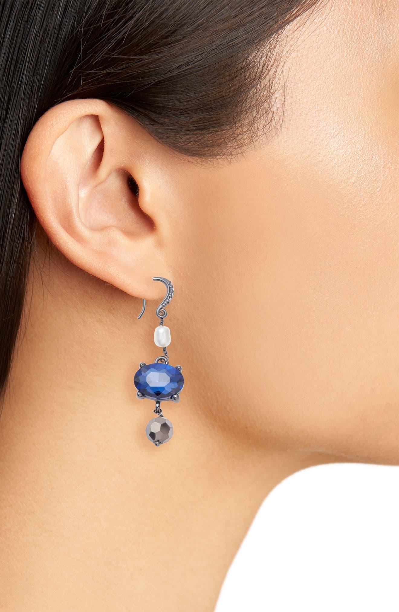 Alternate Image 2  - Badgley Mischka Pearl Drop Earrings
