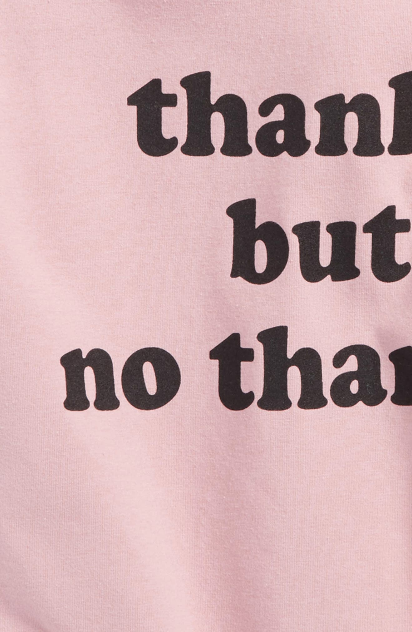 Alternate Image 2  - h.i.p. Thanks But No Thanks Hooded Tee (Big Girls)