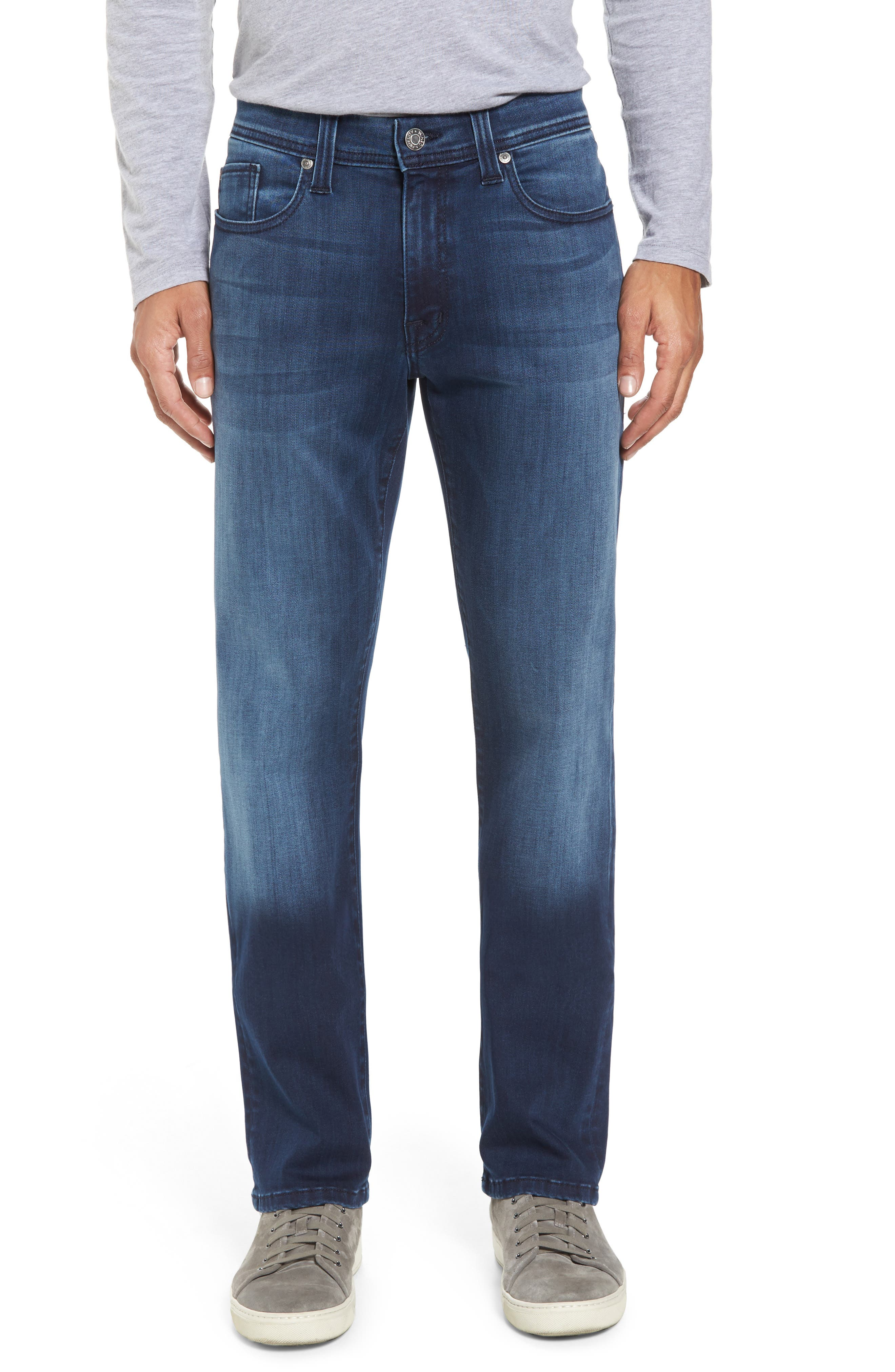 Jimmy Slim Straight Leg Jeans,                             Main thumbnail 1, color,                             Galaxy Blue