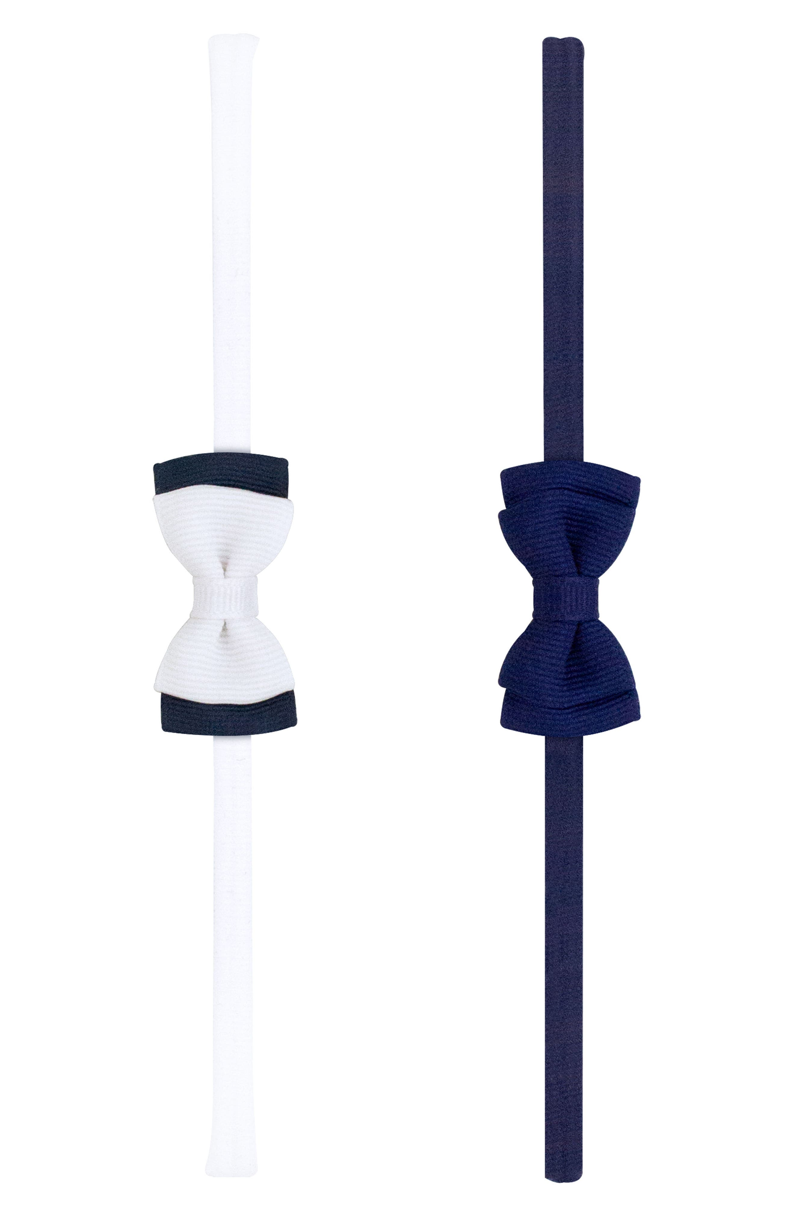 2-Pack Bow Headbands,                             Alternate thumbnail 2, color,                             Navy
