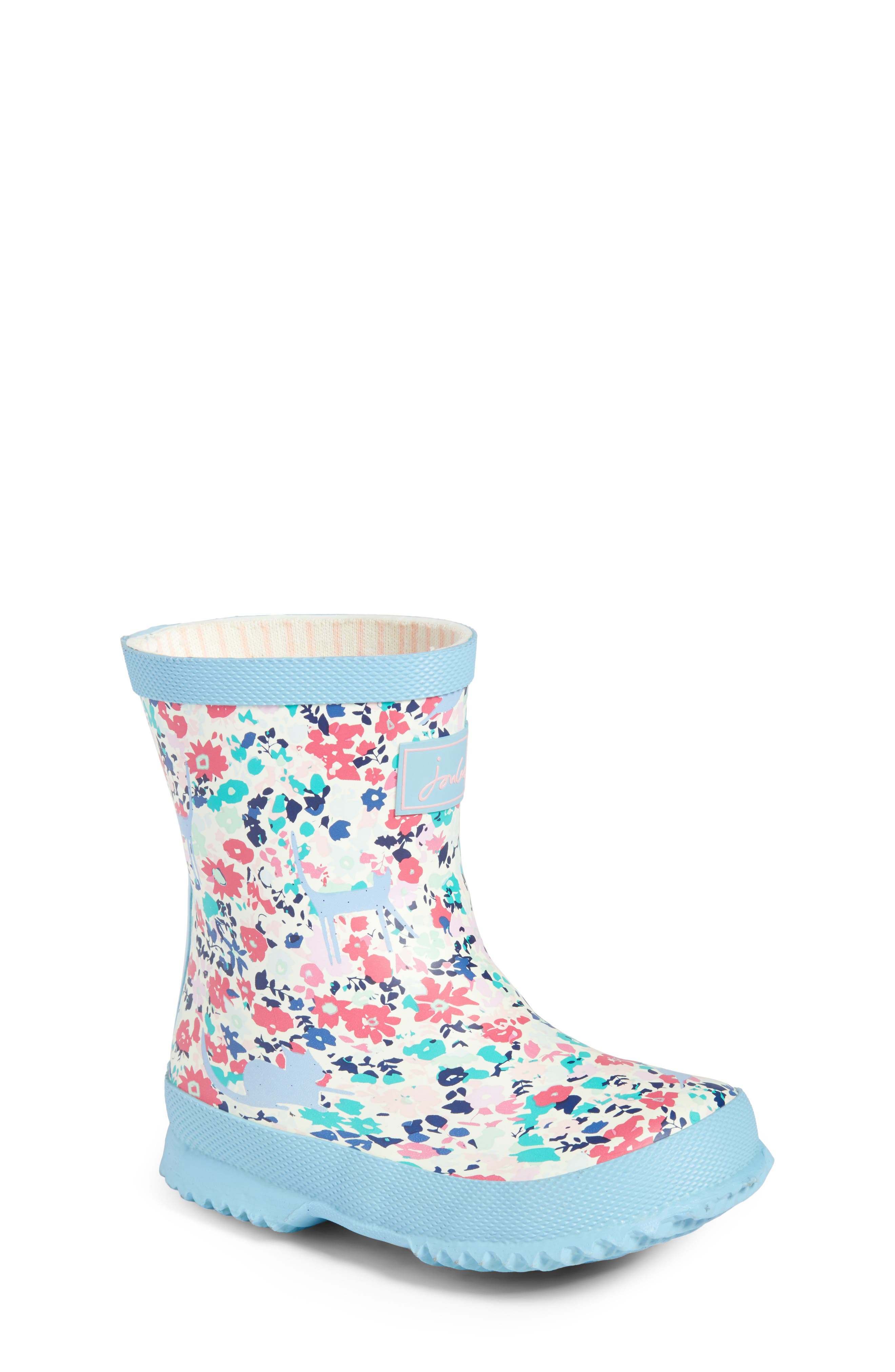 Baby Welly Print Waterproof Boot,                             Main thumbnail 1, color,                             Pretty Kitty Ditsy
