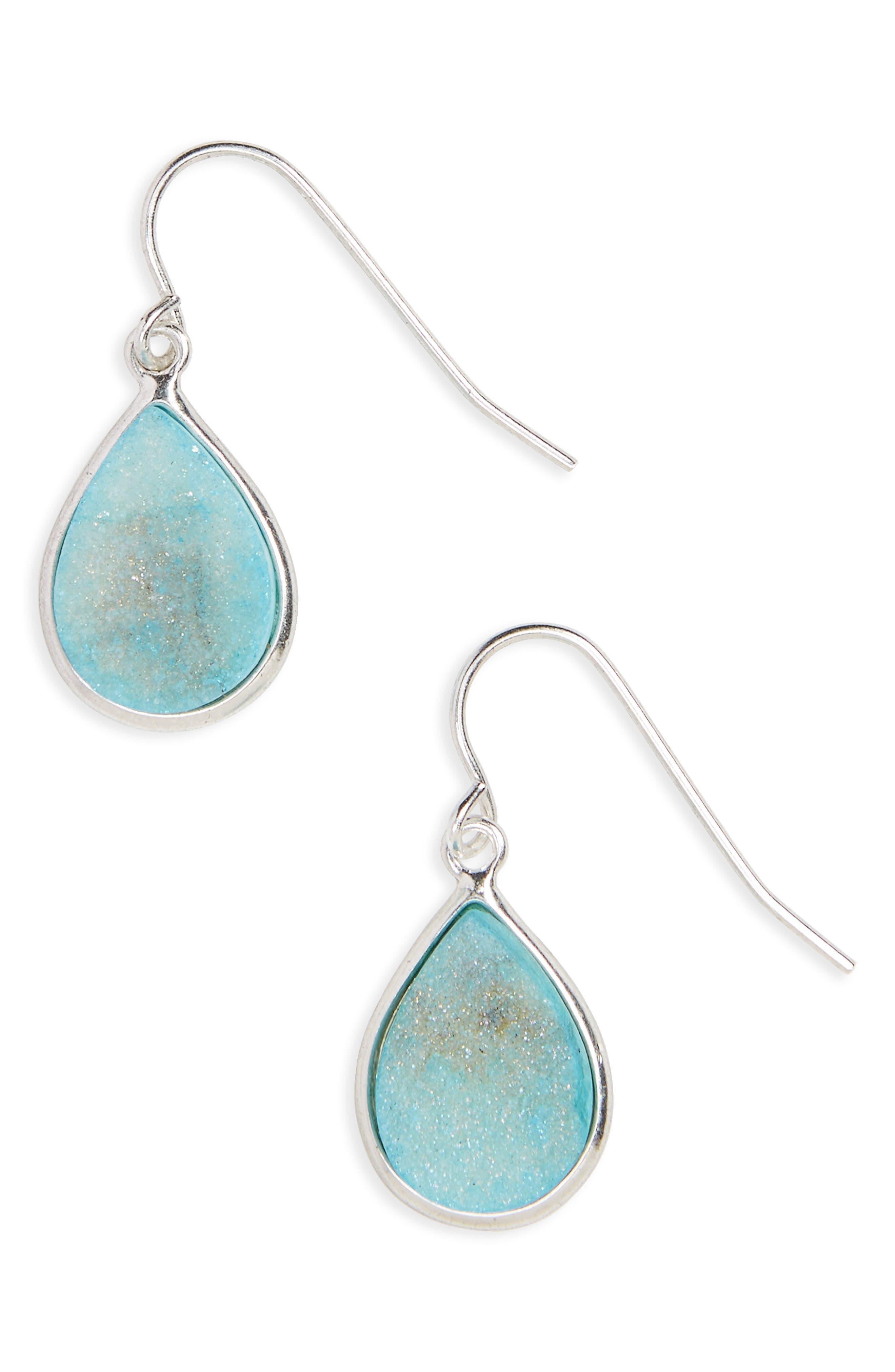 Drusy Drops,                         Main,                         color, Blue- Rhodium