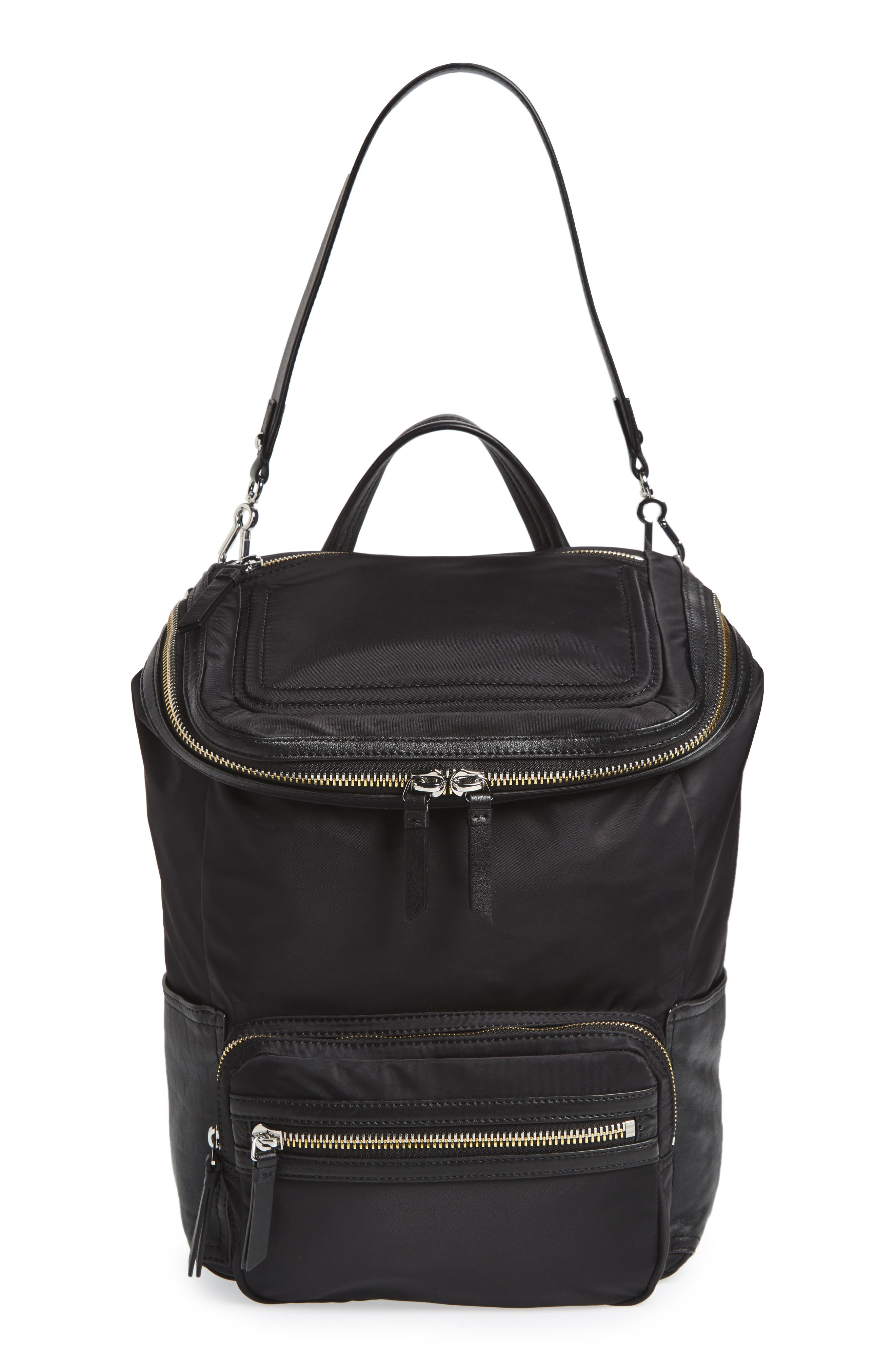 Alternate Image 5  - Vince Camuto Patch NYL Leather & Nylon Backpack