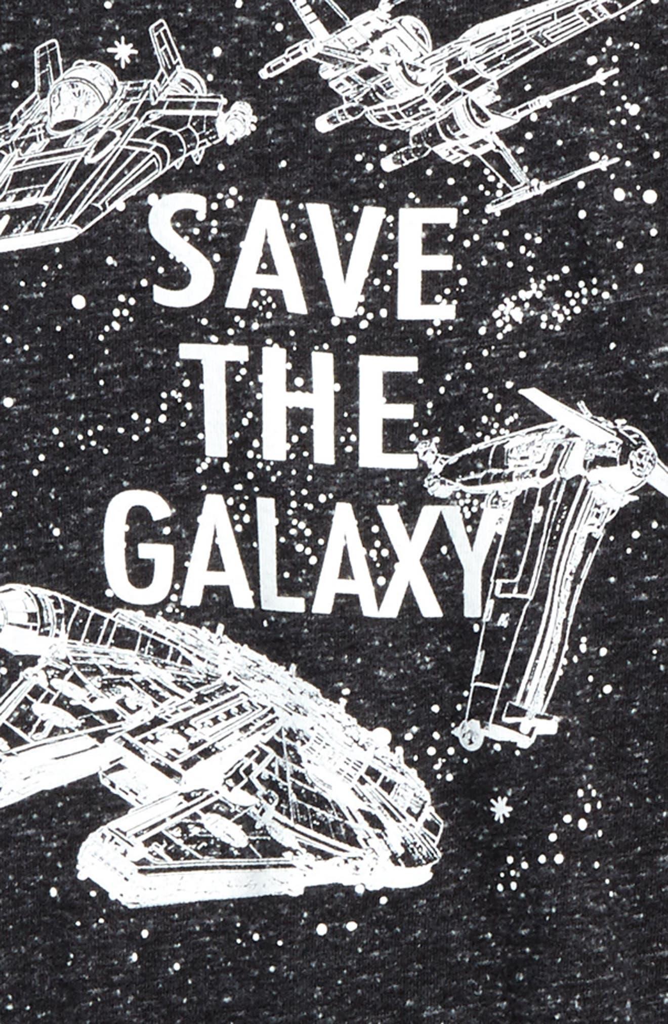Alternate Image 2  - Jem Star Wars - Save the Galaxy Glow in the Dark T-Shirt (Big Boys)