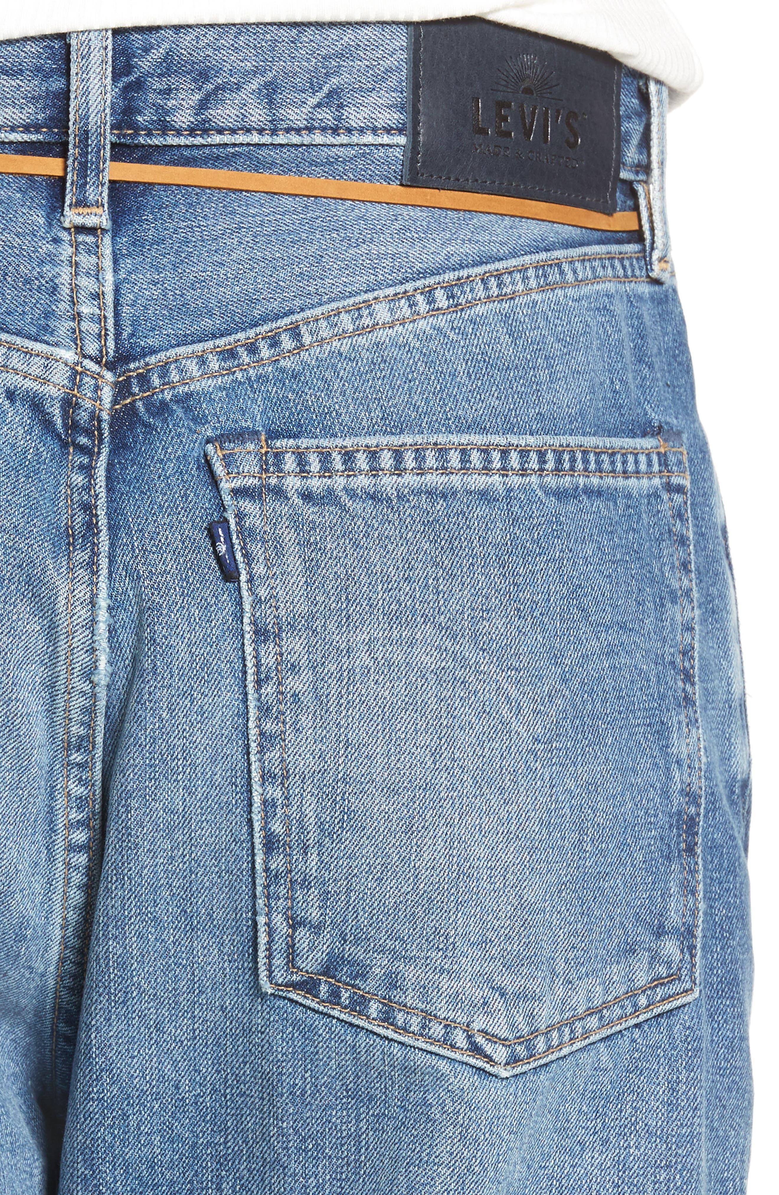 Barrel Jeans,                             Alternate thumbnail 4, color,                             J-Bay