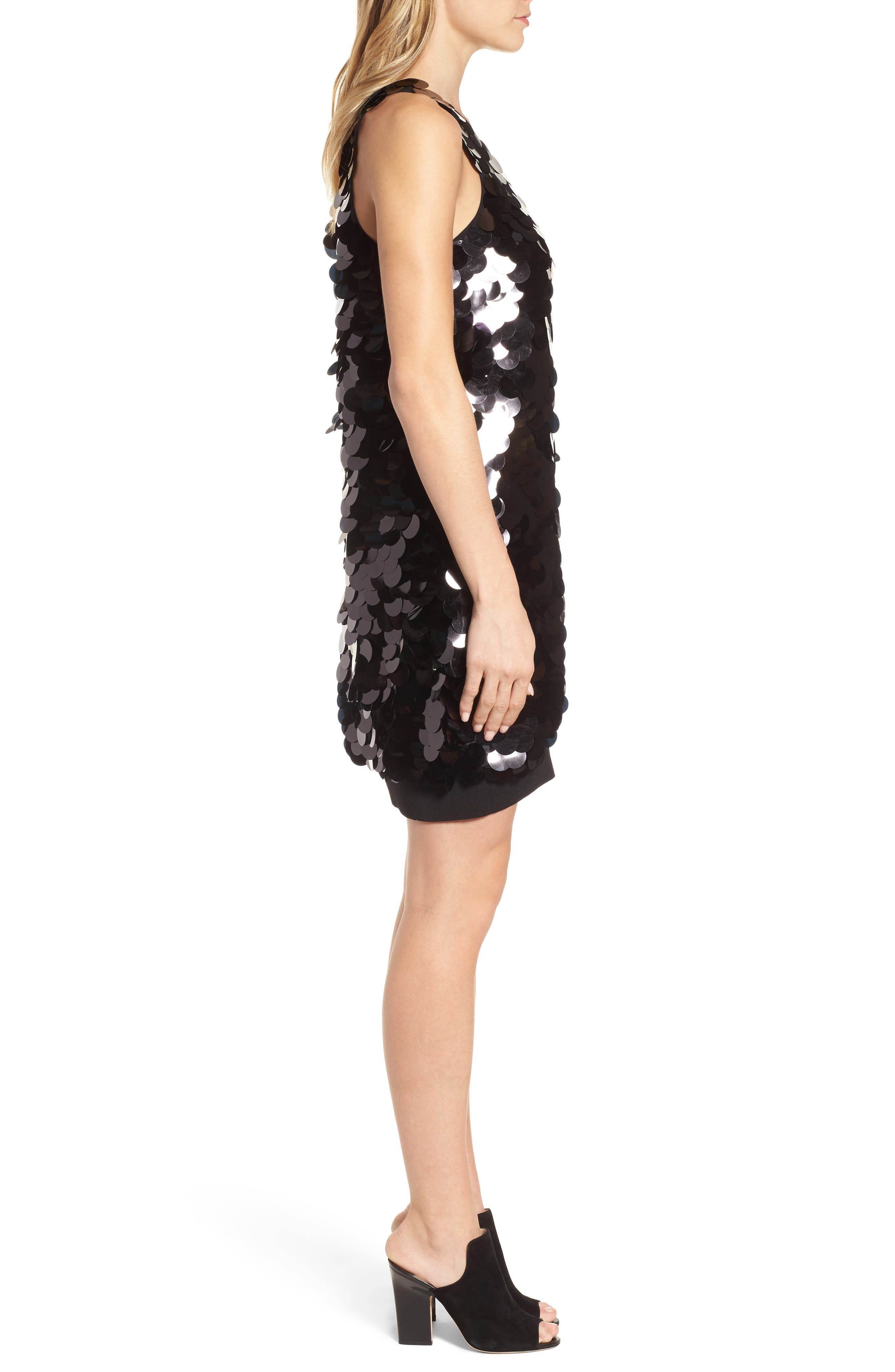 Alternate Image 3  - Kenneth Cole New York Paillette Swing Dress