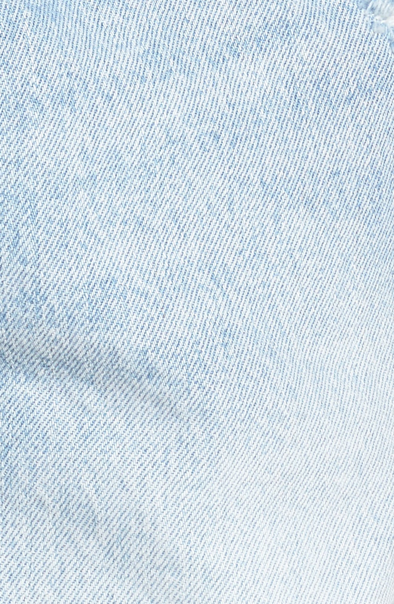 501<sup>®</sup> Cuffed Long Denim Shorts,                             Alternate thumbnail 5, color,                             North Beach Blues